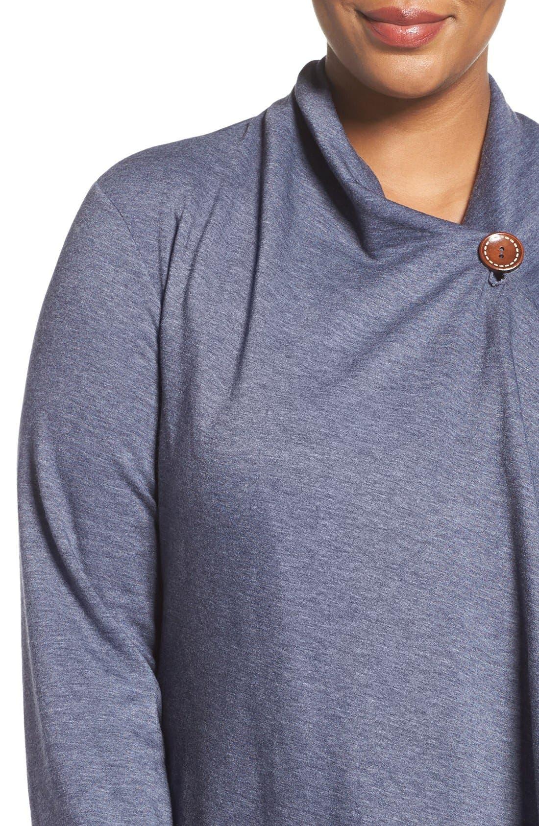 One-Button Fleece Cardigan,                             Alternate thumbnail 152, color,