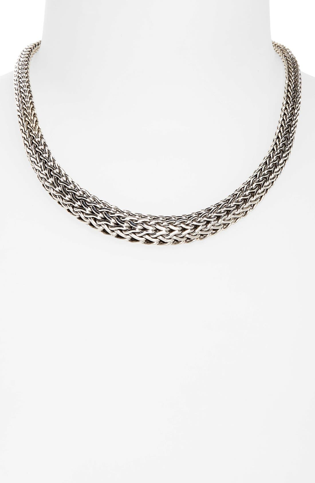 Classic Chain Graduated Necklace,                             Alternate thumbnail 2, color,                             SILVER