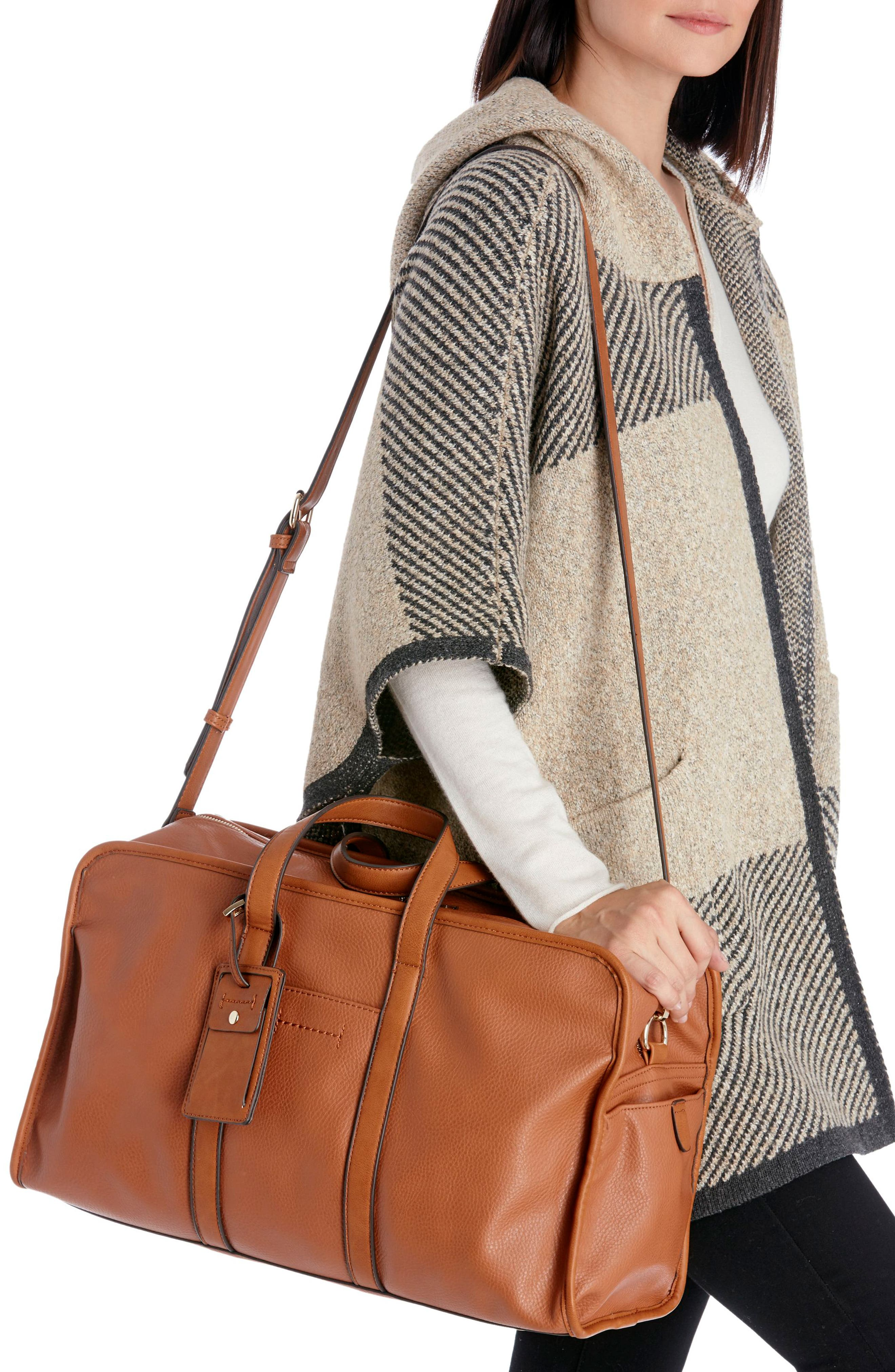 Doxin Faux Leather Duffel Bag,                             Alternate thumbnail 13, color,