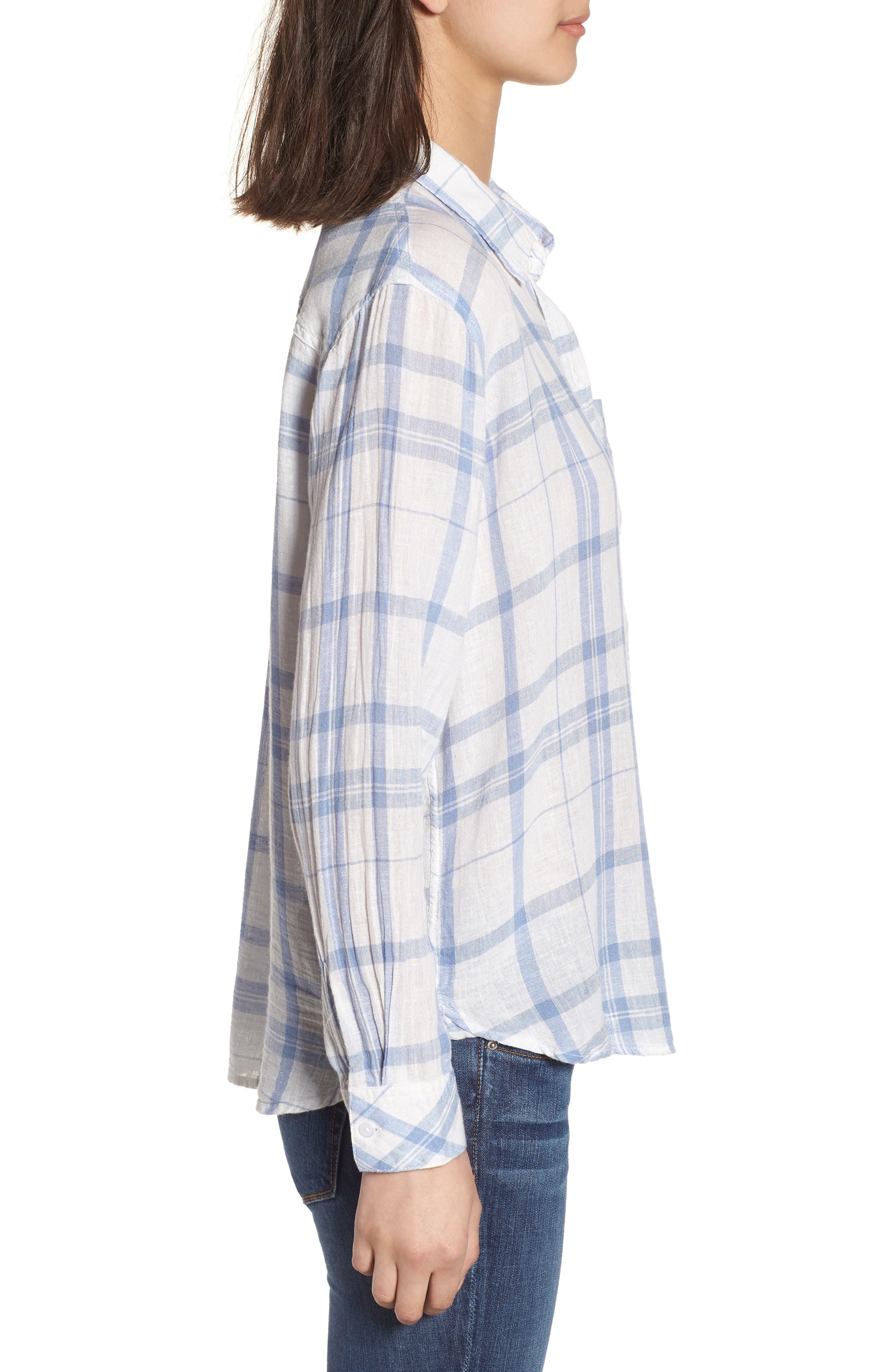 Charli Shirt,                             Alternate thumbnail 3, color,                             TRUE BLUE WHITE