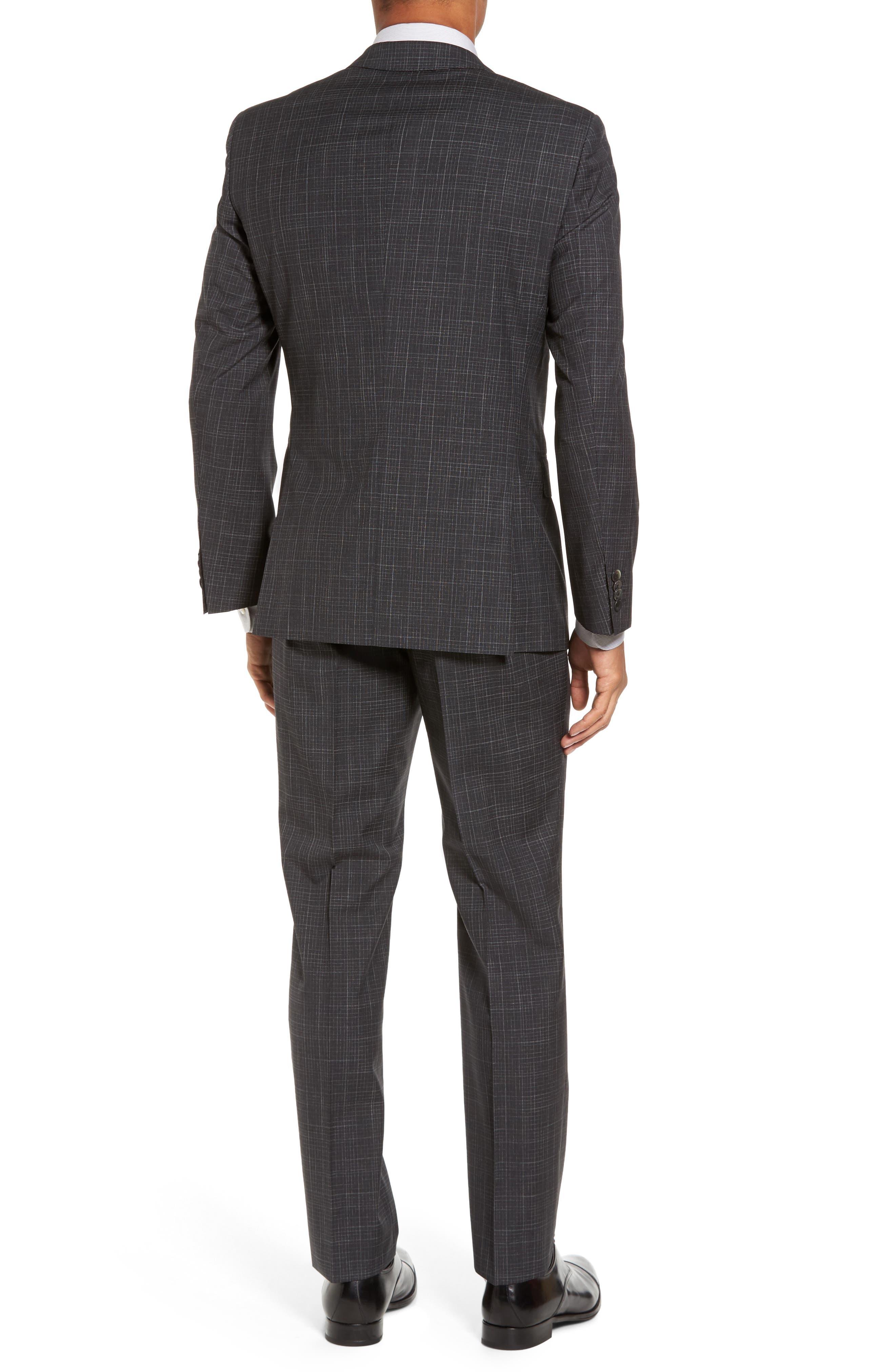 Hutson/Gander Trim Fit Plaid Wool Suit,                             Alternate thumbnail 2, color,                             061