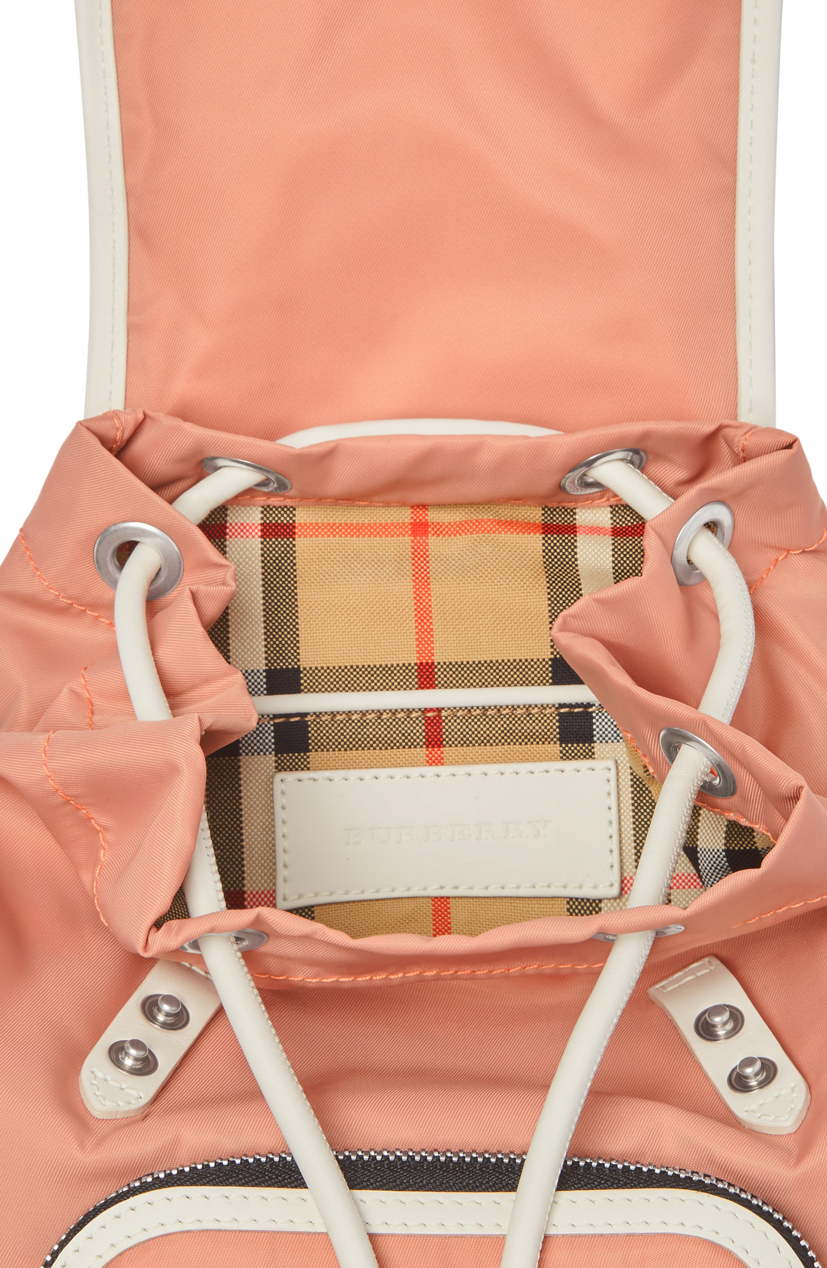 Small Rucksack Nylon Backpack,                             Alternate thumbnail 3, color,                             POWDER PINK