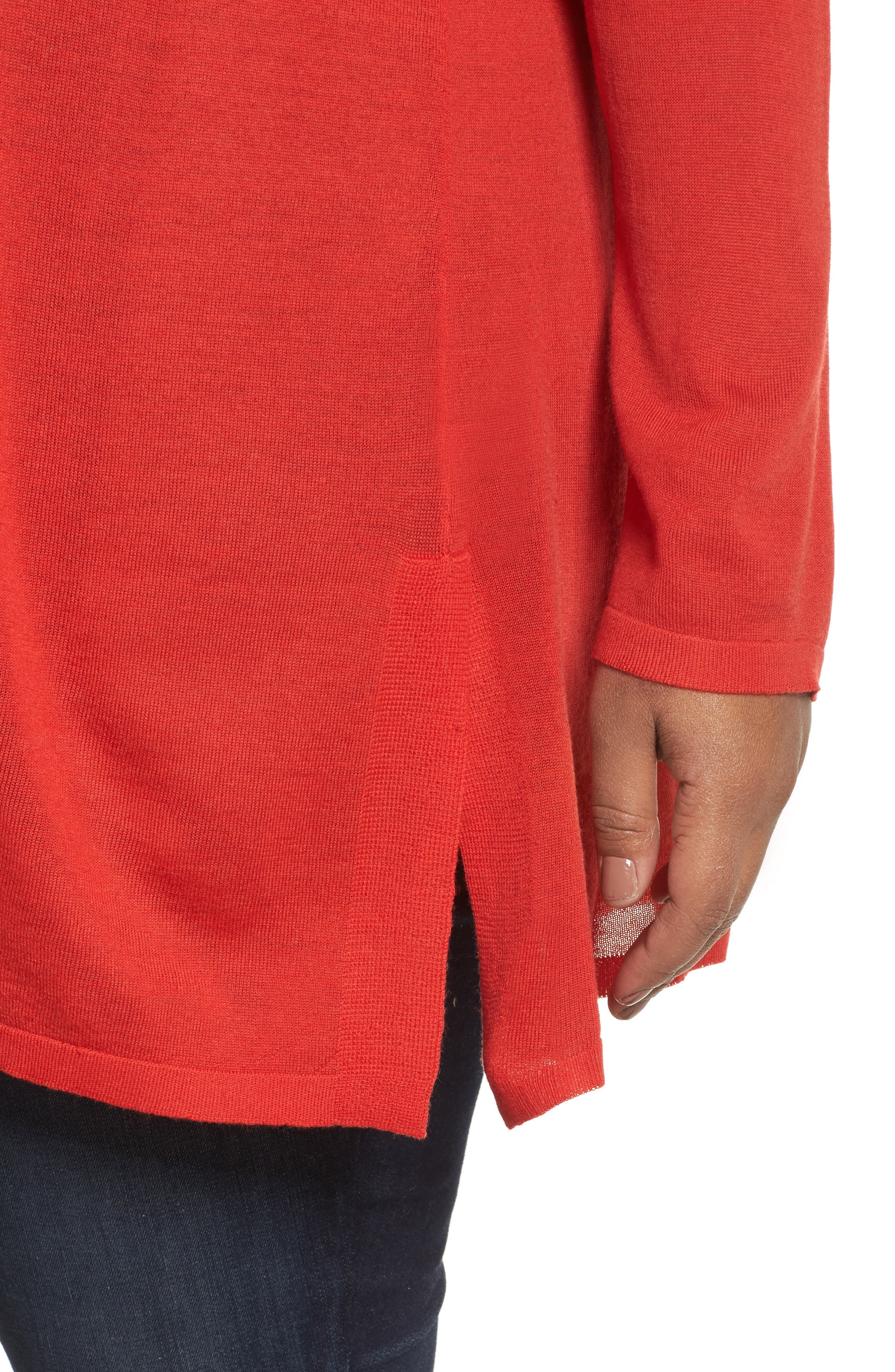 Merino Wool Tunic Sweater,                             Alternate thumbnail 20, color,