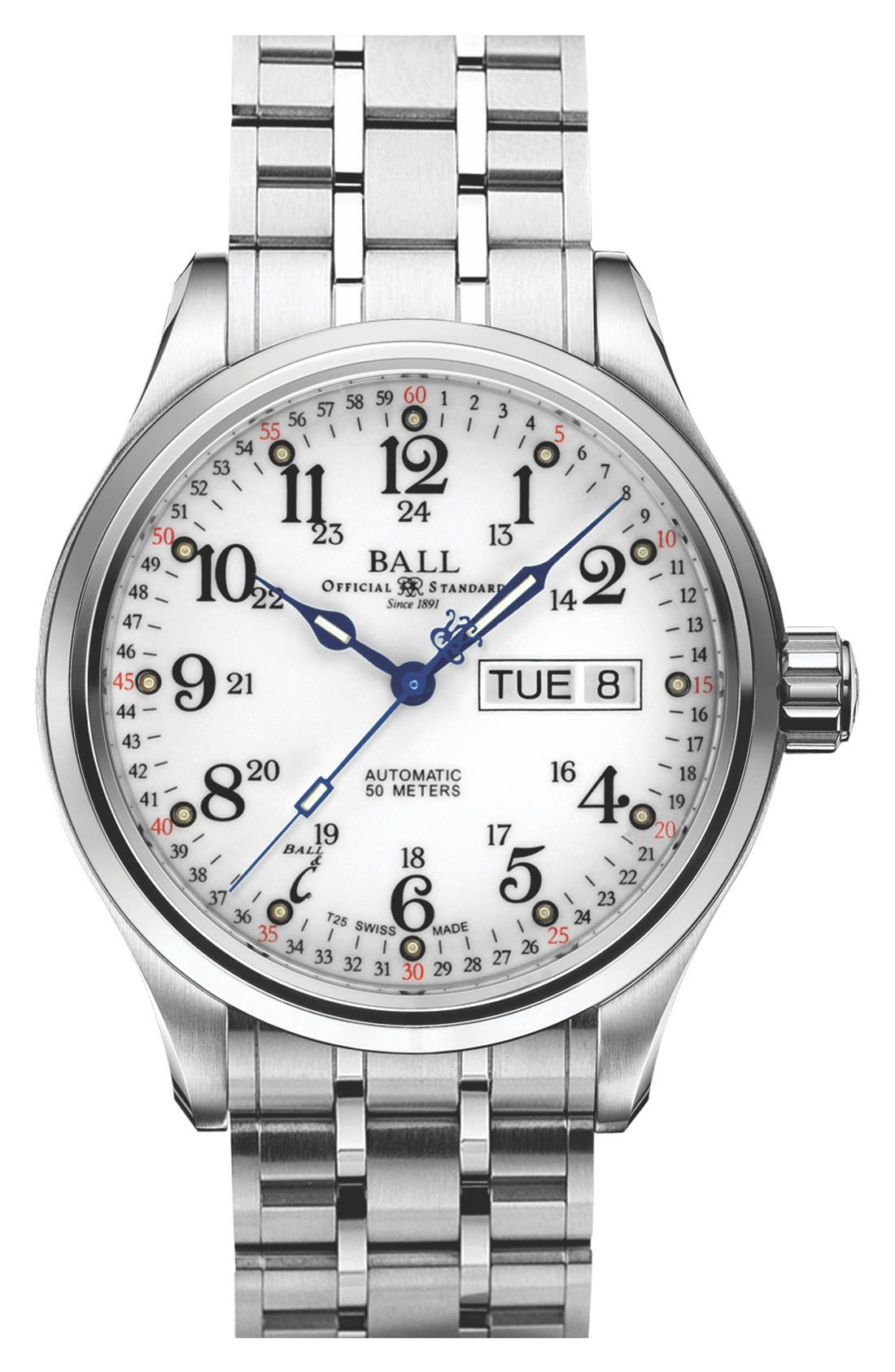 'Trainmaster 60 Seconds II' Bracelet Watch, 41mm,                             Main thumbnail 1, color,                             100