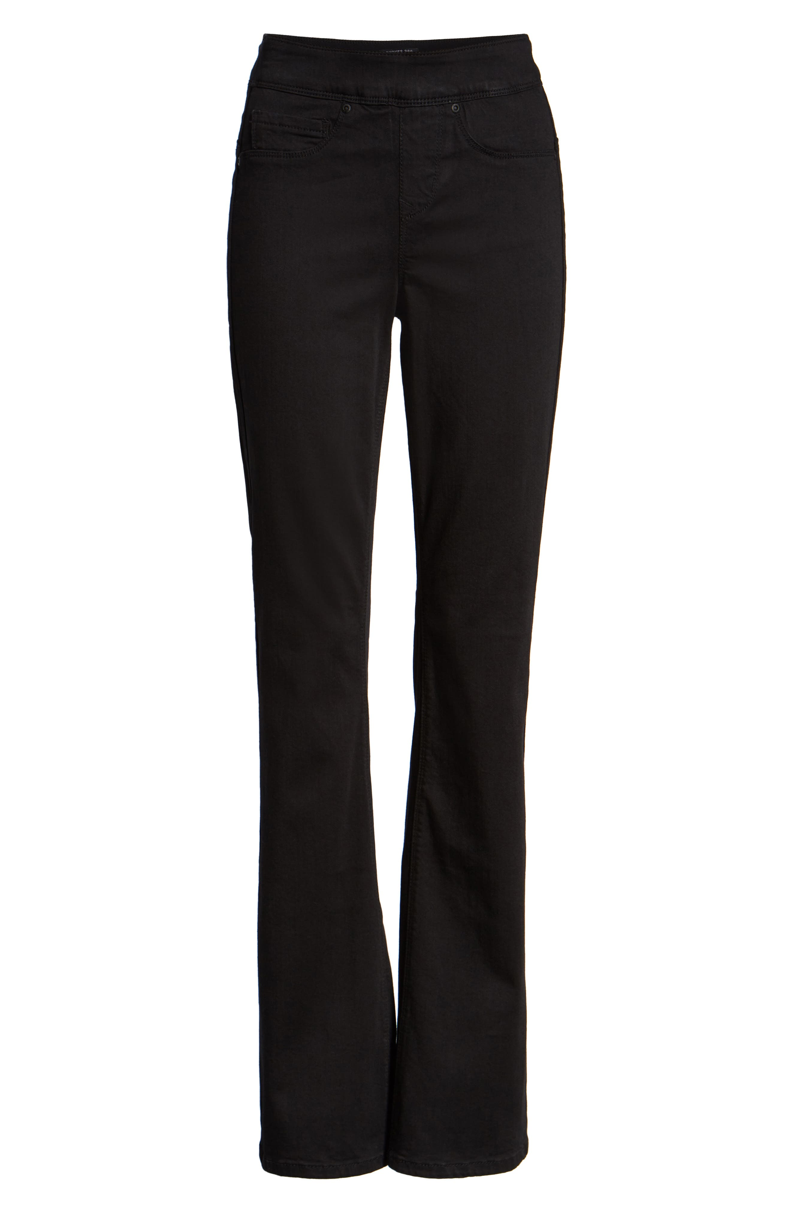 Pull-On Skinny Bootcut Jeans,                             Alternate thumbnail 4, color,                             NUIT