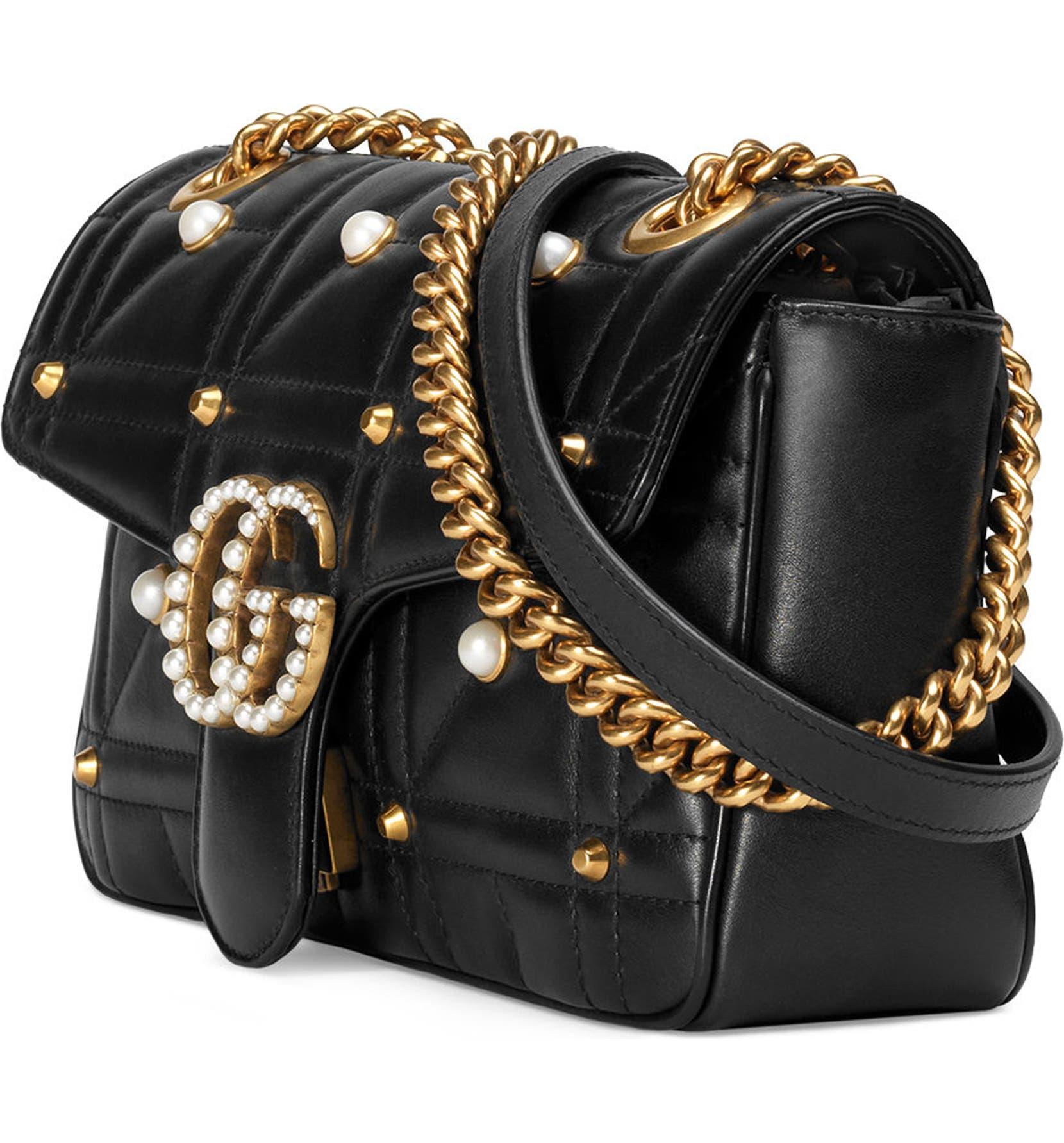 88d94b1896d Gucci GG Marmont Matelassé Imitation Pearl Leather Shoulder Bag ...