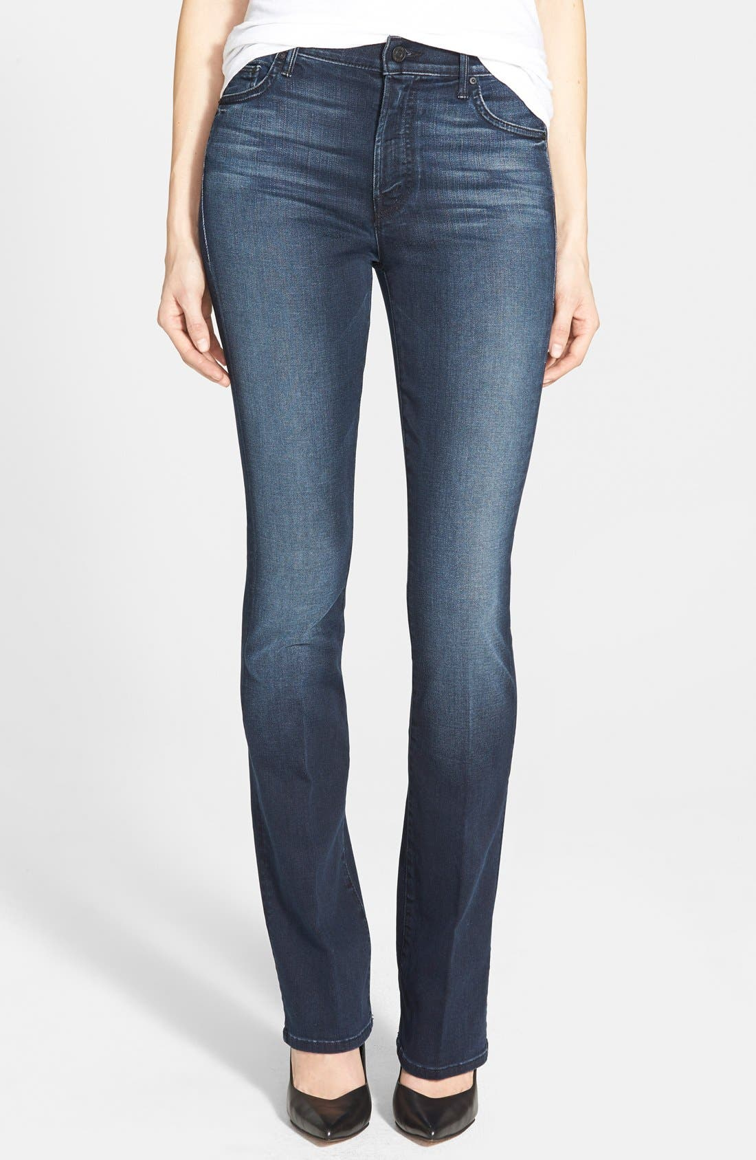 MOTHER 'The Insider' Bootcut Jeans, Main, color, 419