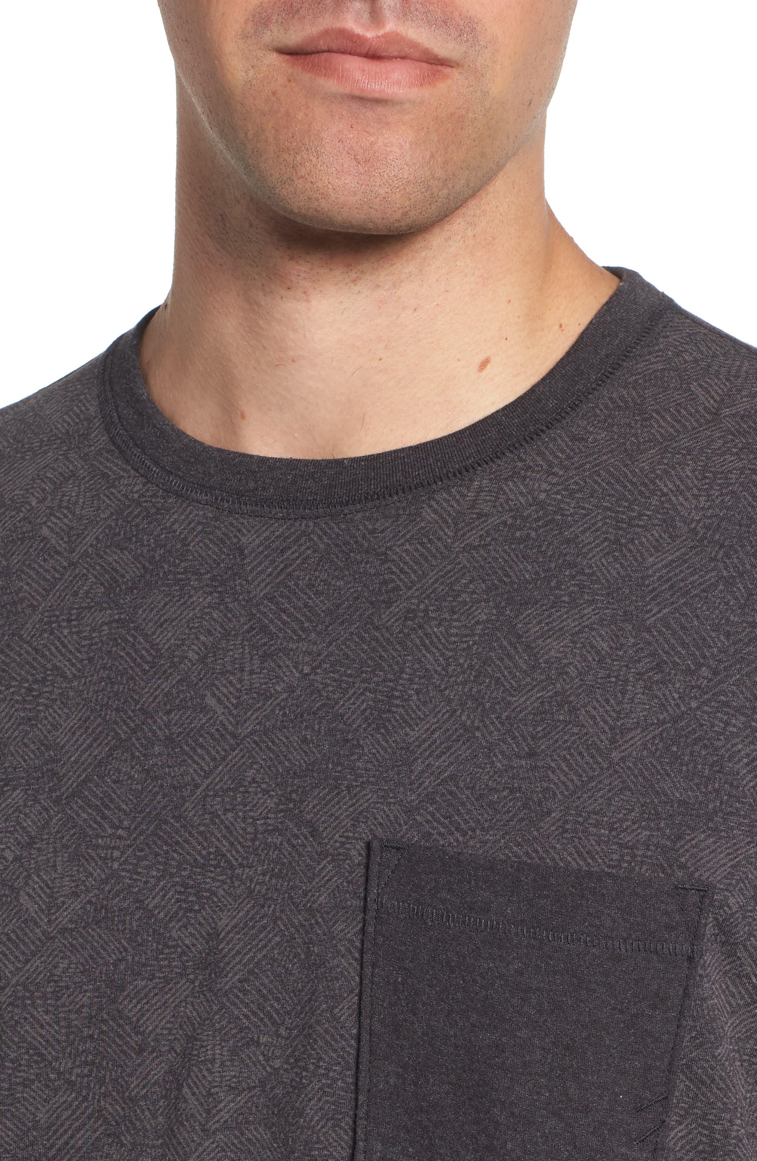 Field Line Crewneck T-Shirt,                             Alternate thumbnail 4, color,                             FIELD LINE