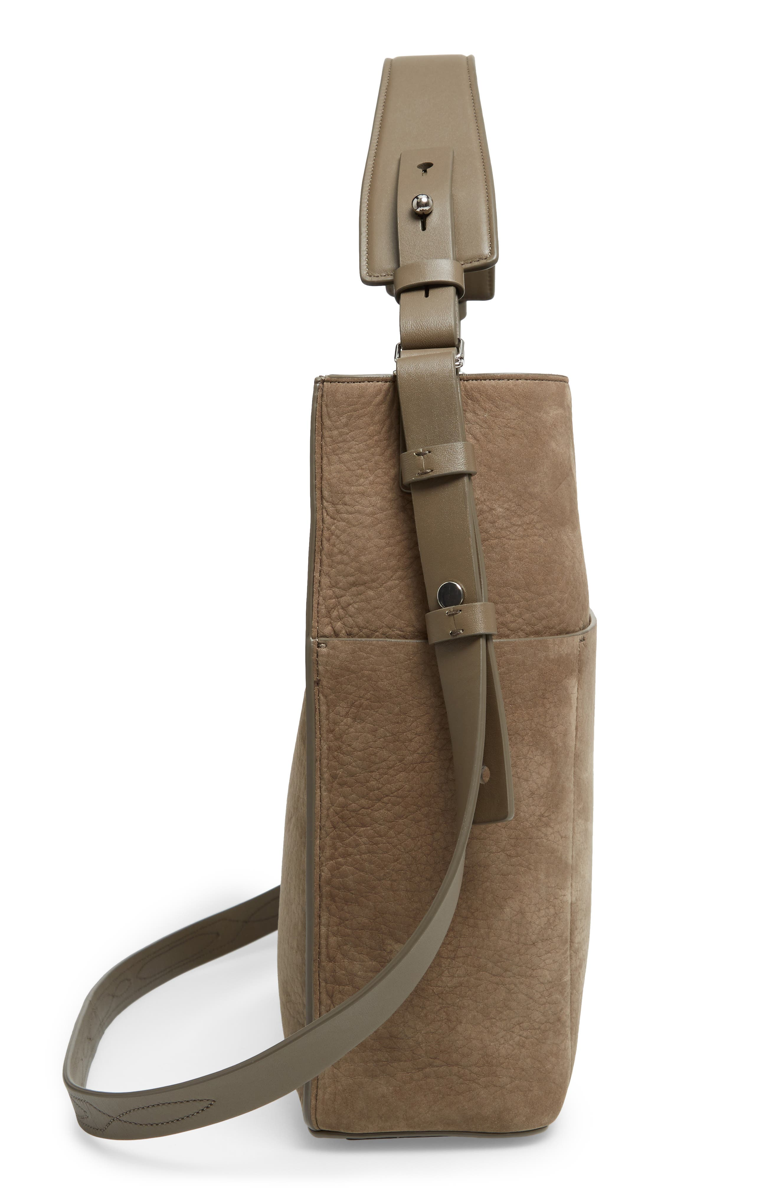 Cooper Nubuck Calfskin Leather Tote,                             Alternate thumbnail 6, color,                             031