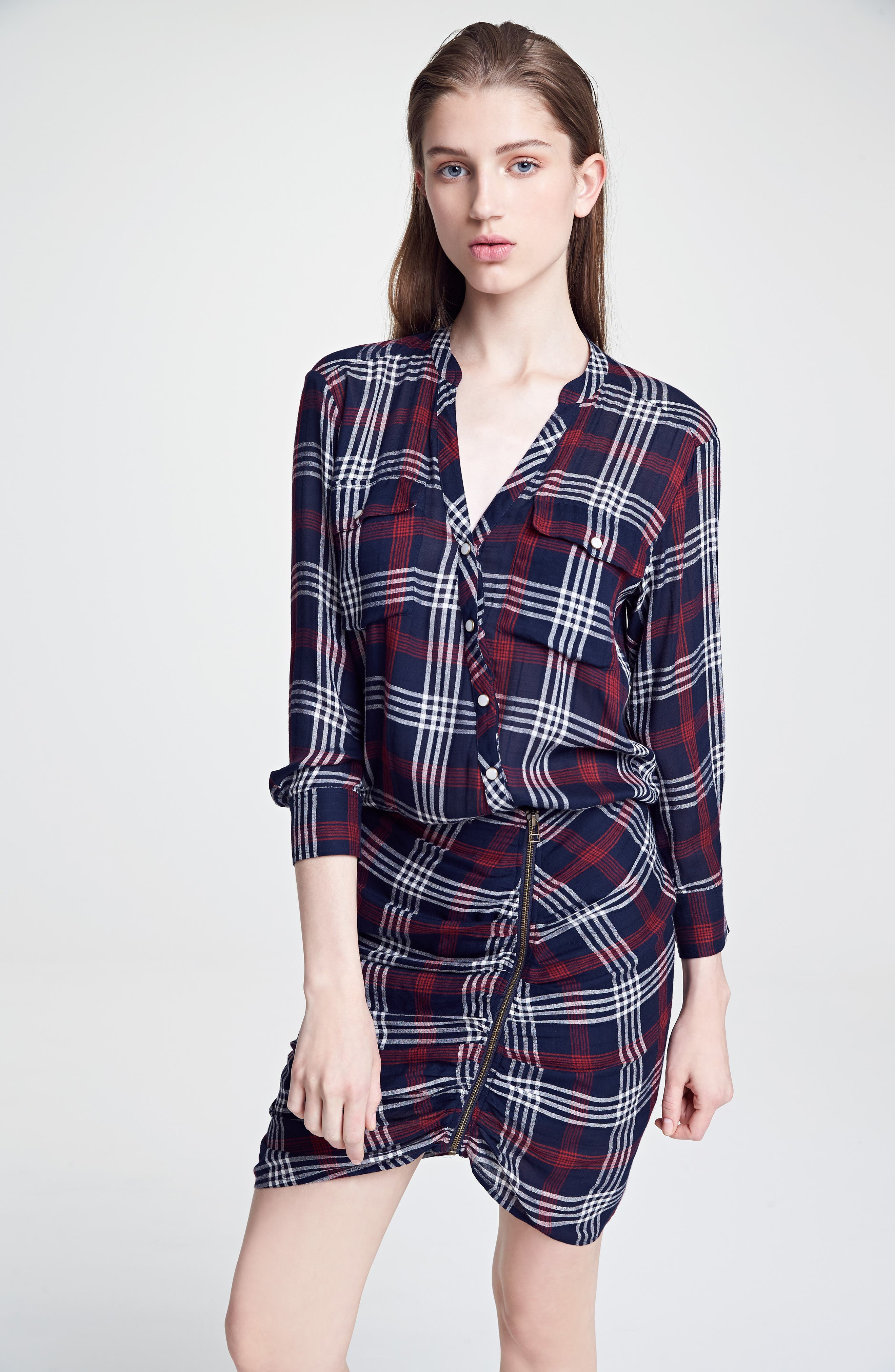 Emory Ruched Cargo Shirtdress,                             Alternate thumbnail 5, color,                             410