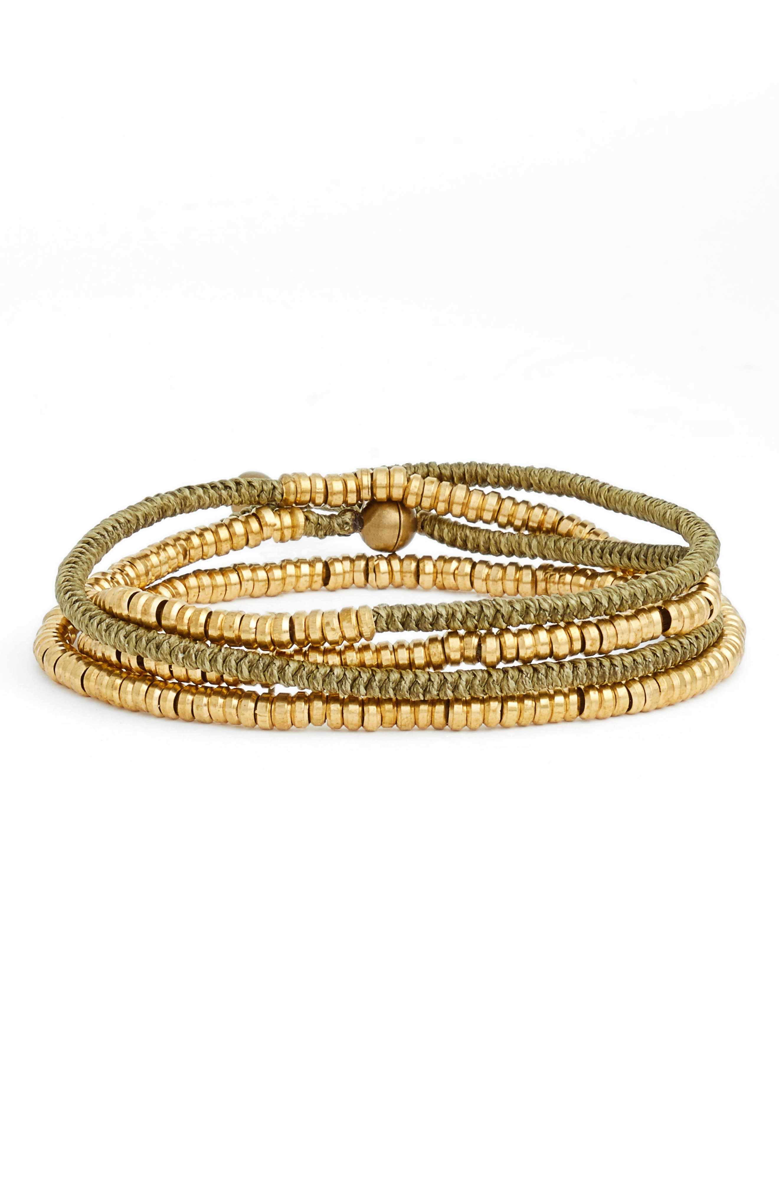 Heishi Wrap Bracelet,                             Main thumbnail 5, color,