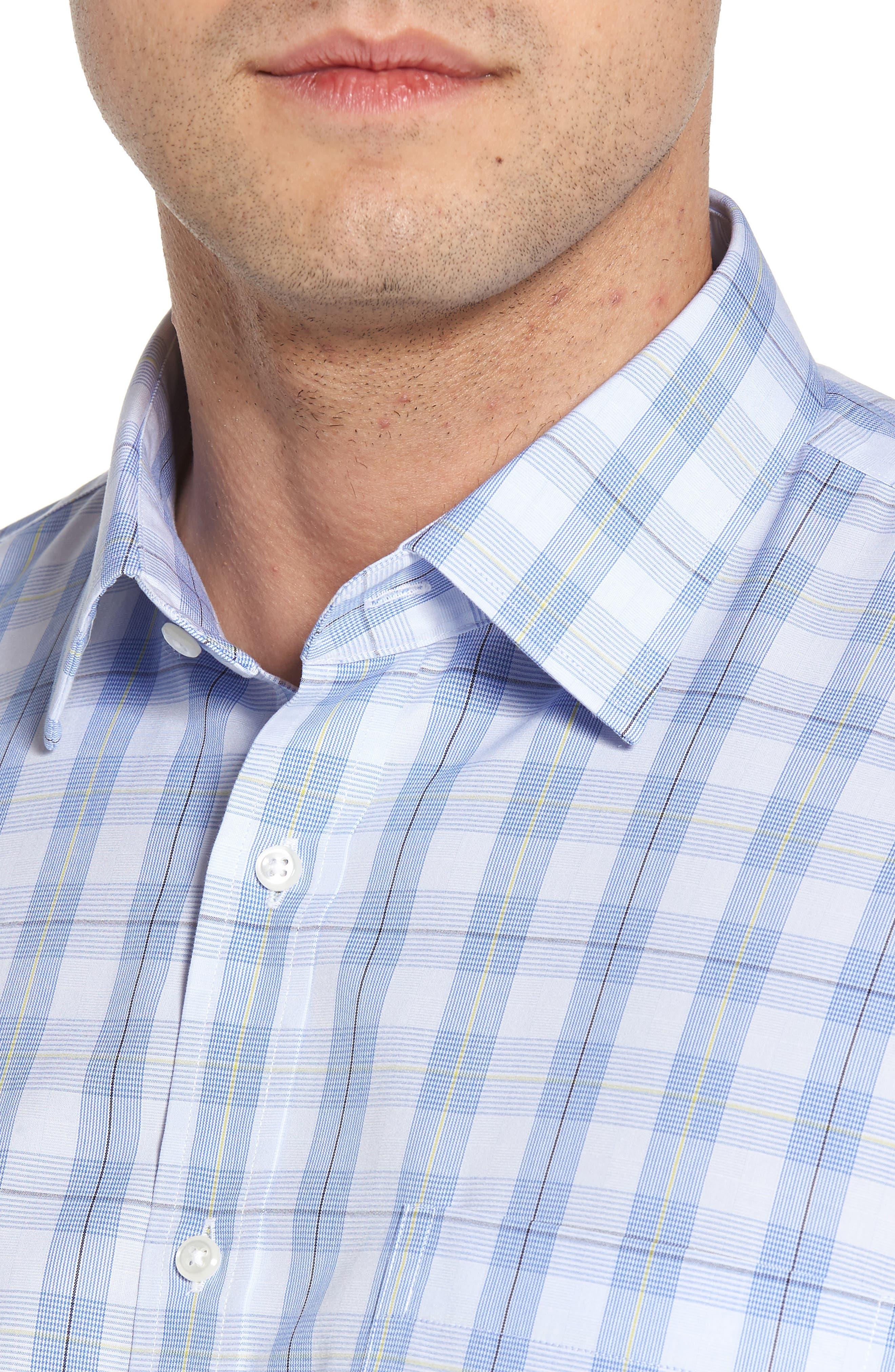Smartcare<sup>™</sup> Traditional Fit Plaid Sport Shirt,                             Alternate thumbnail 2, color,