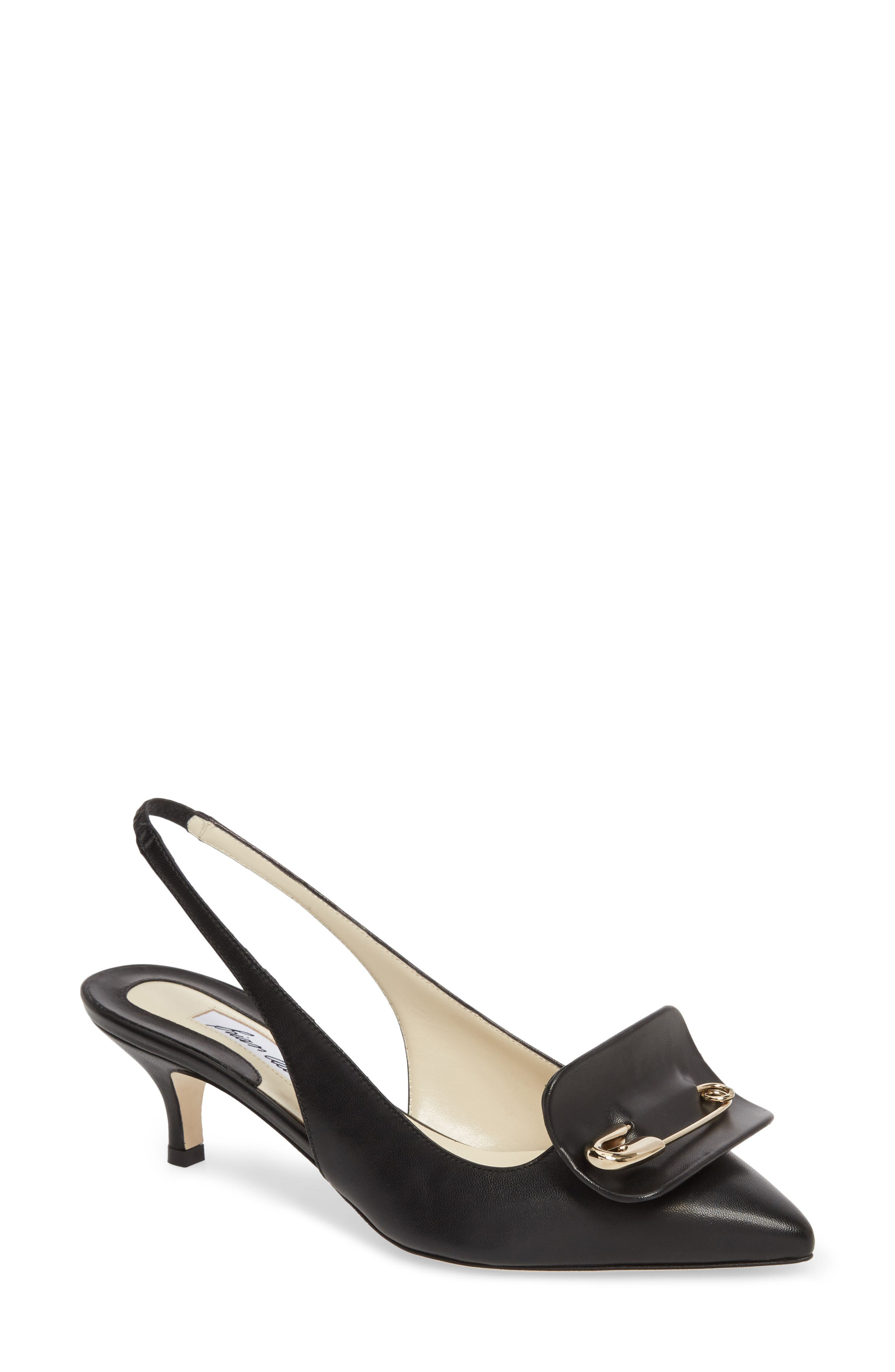 Guiliaa Slingback Pump,                             Main thumbnail 1, color,                             BLACK NAPPA
