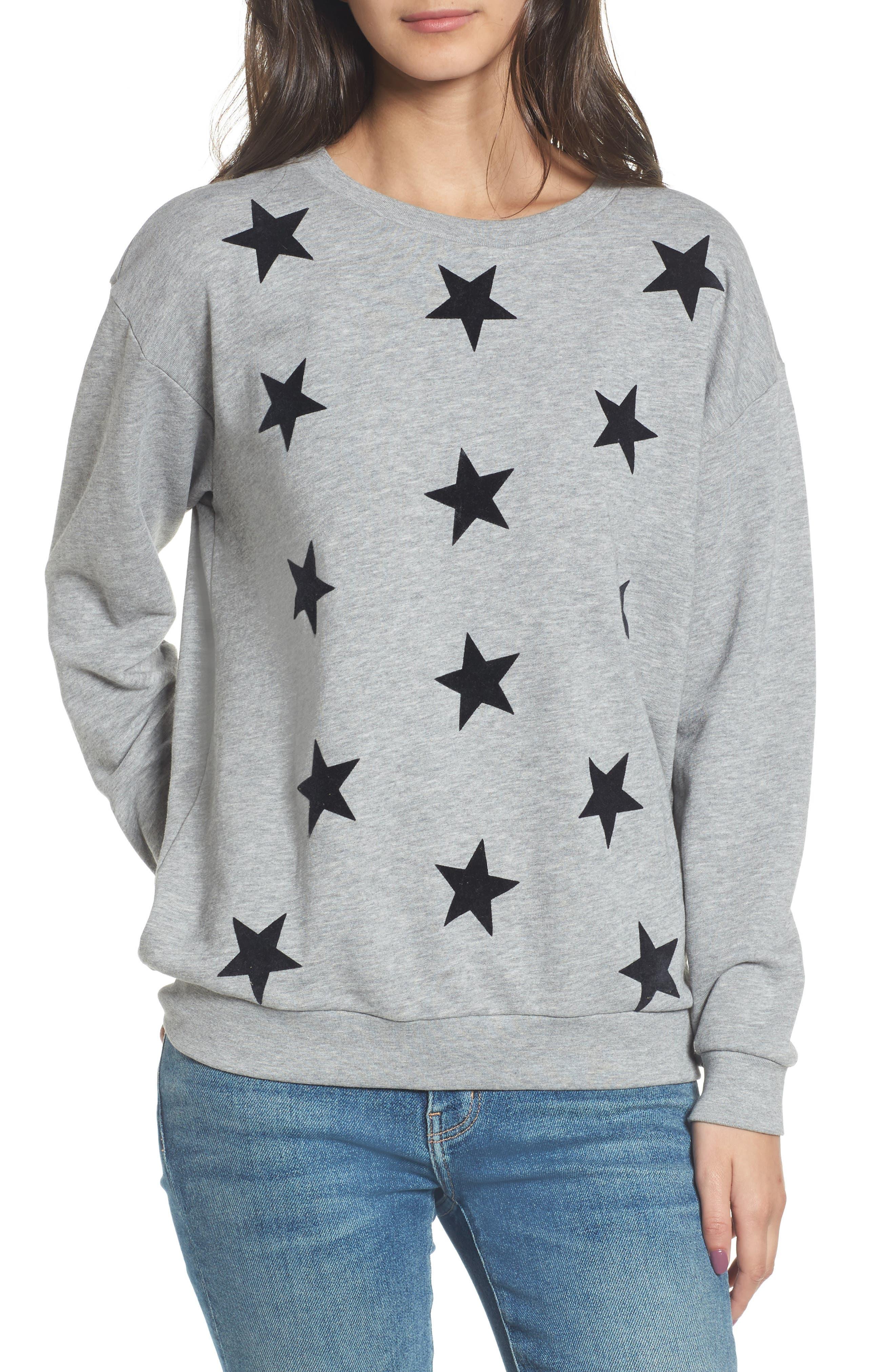 Alexa - Super Stars Sweatshirt,                             Main thumbnail 1, color,                             GREY