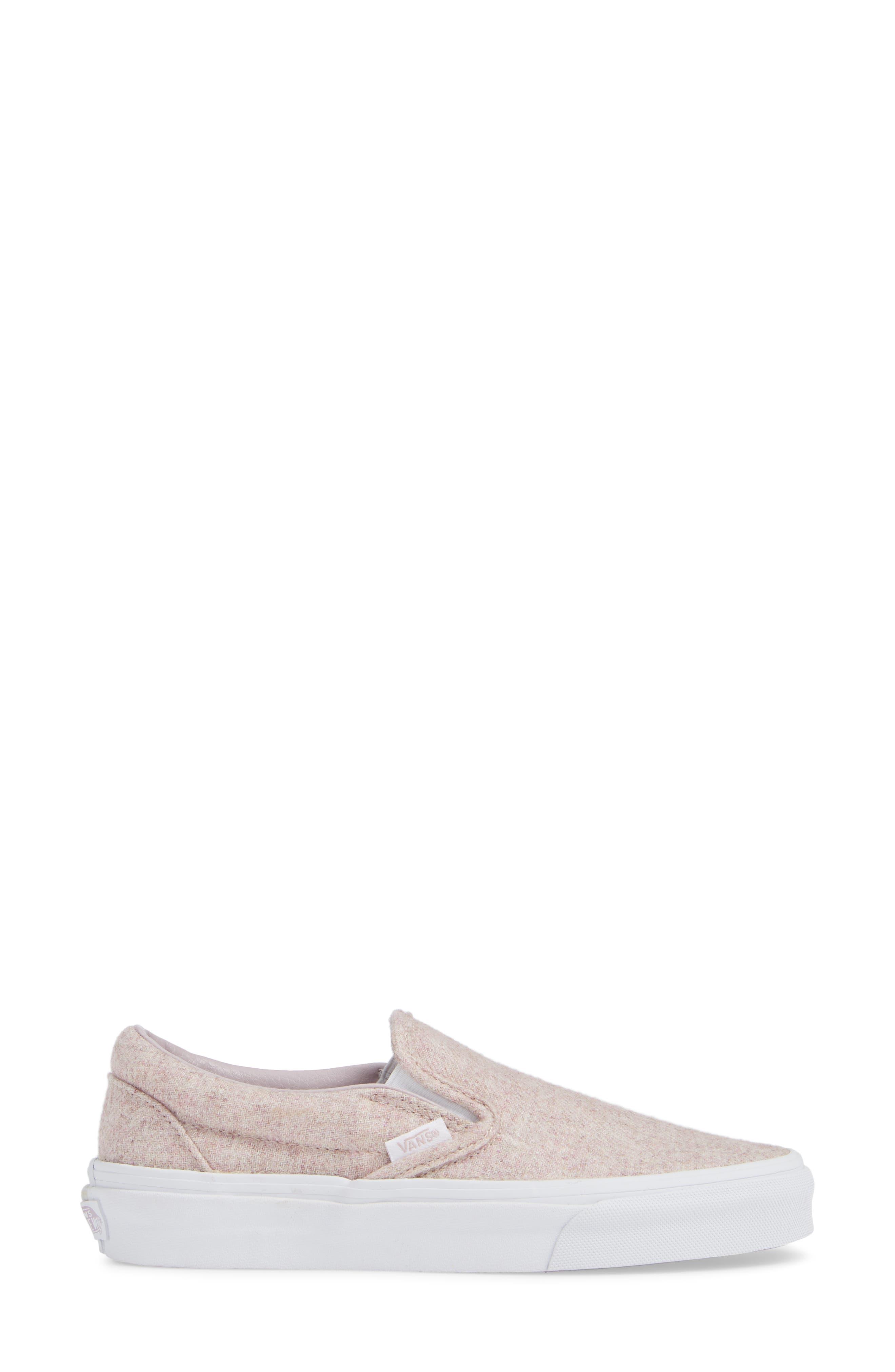 Classic Slip-On Sneaker,                             Alternate thumbnail 3, color,                             VIOLET ICE/ TRUE WHITE