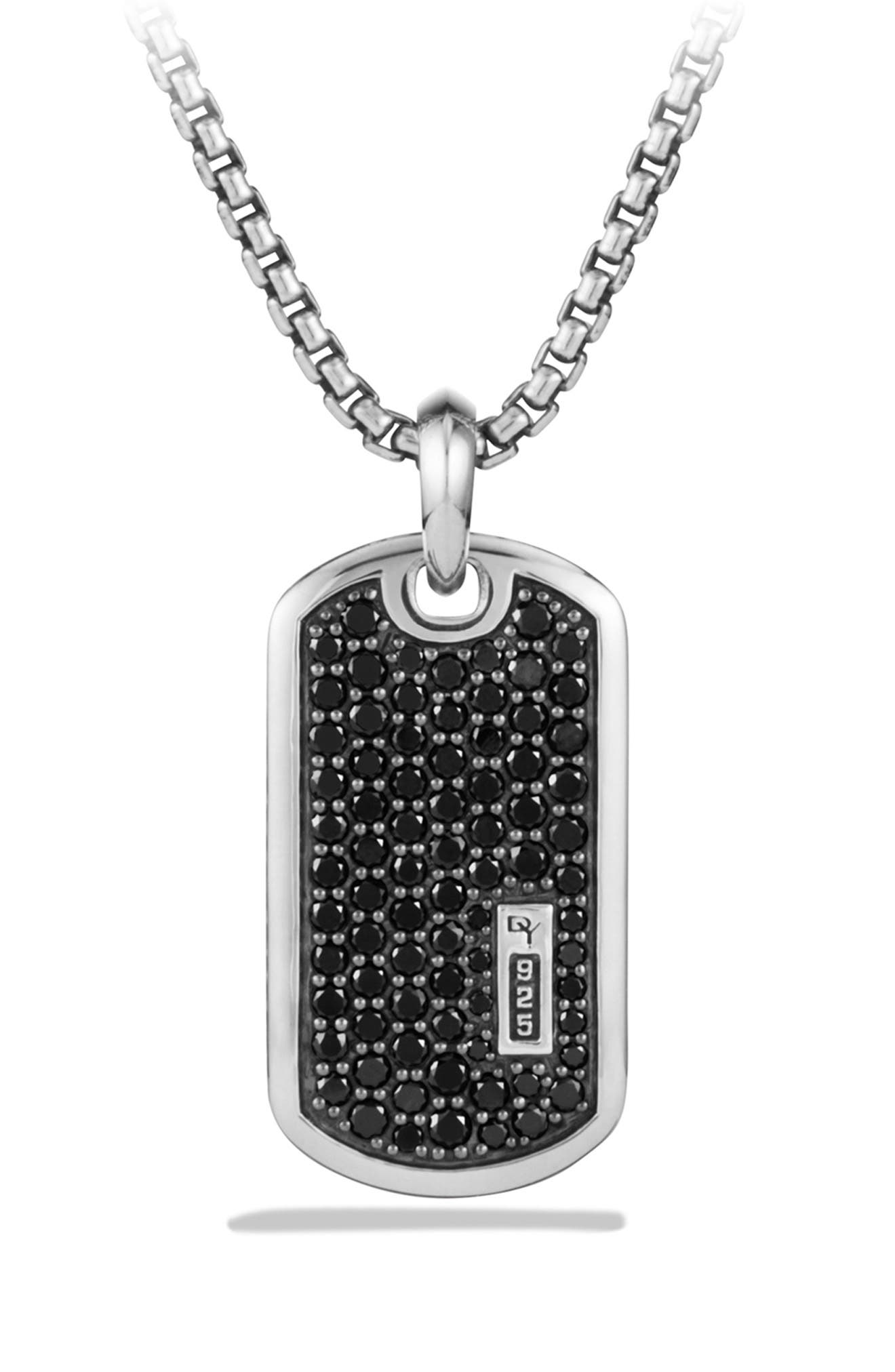 Pavé Tag with Black Diamonds,                             Alternate thumbnail 3, color,                             BLACK DIAMOND