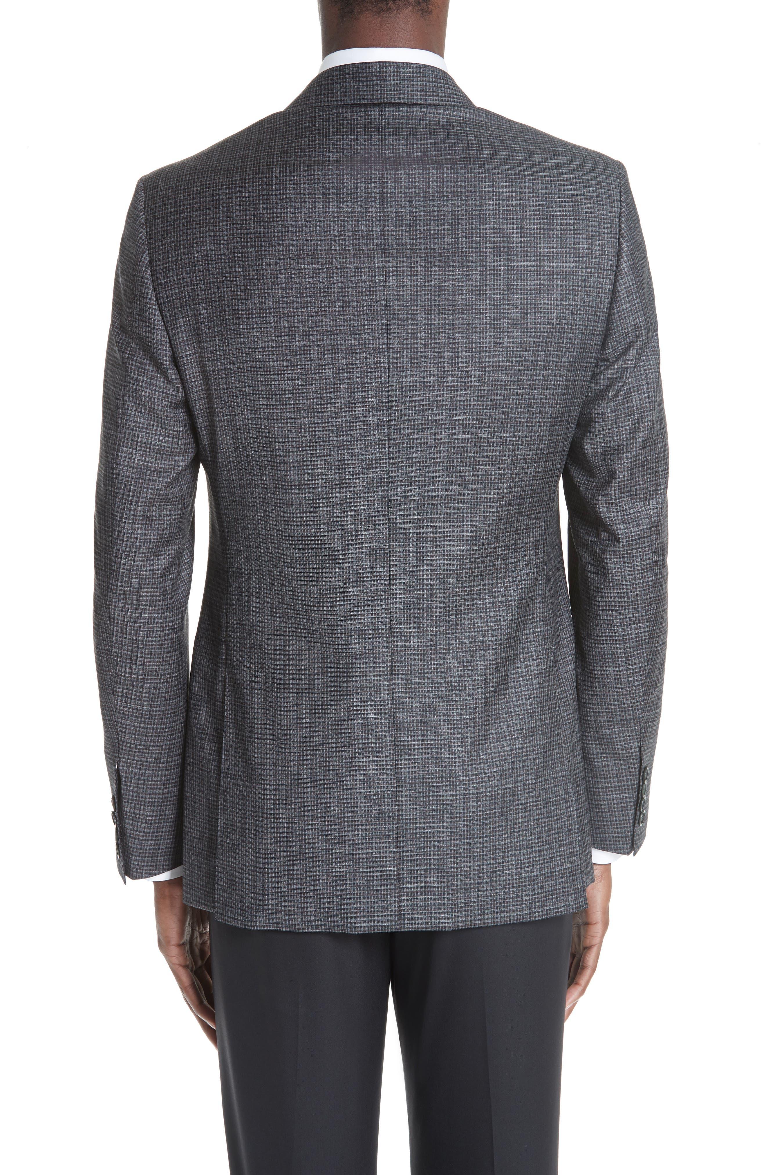 Classic Fit Check Wool Sport Coat,                             Alternate thumbnail 2, color,                             DARK GREY