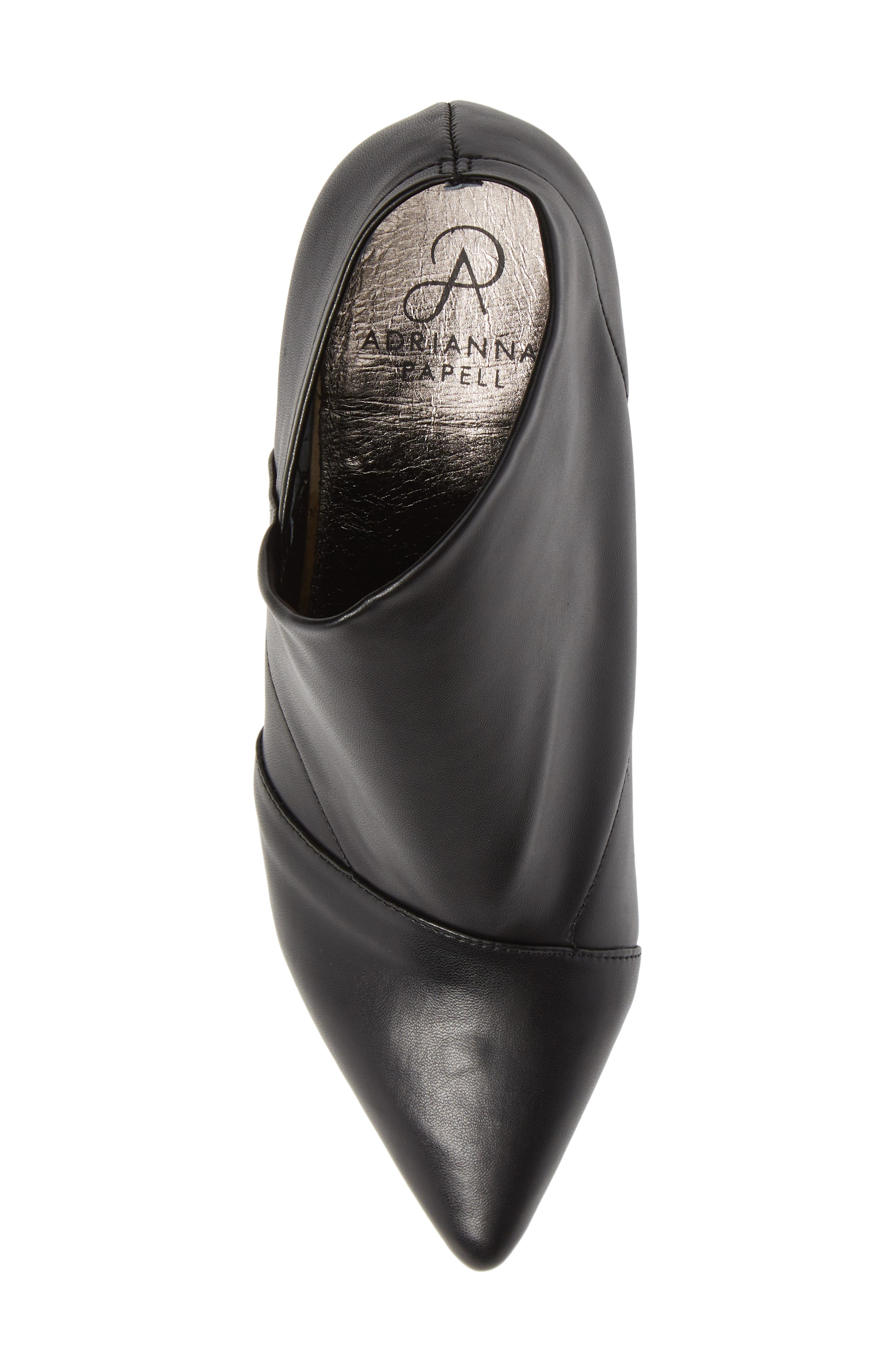 Hayes Pointy Toe Bootie,                             Alternate thumbnail 5, color,                             BLACK LEATHER
