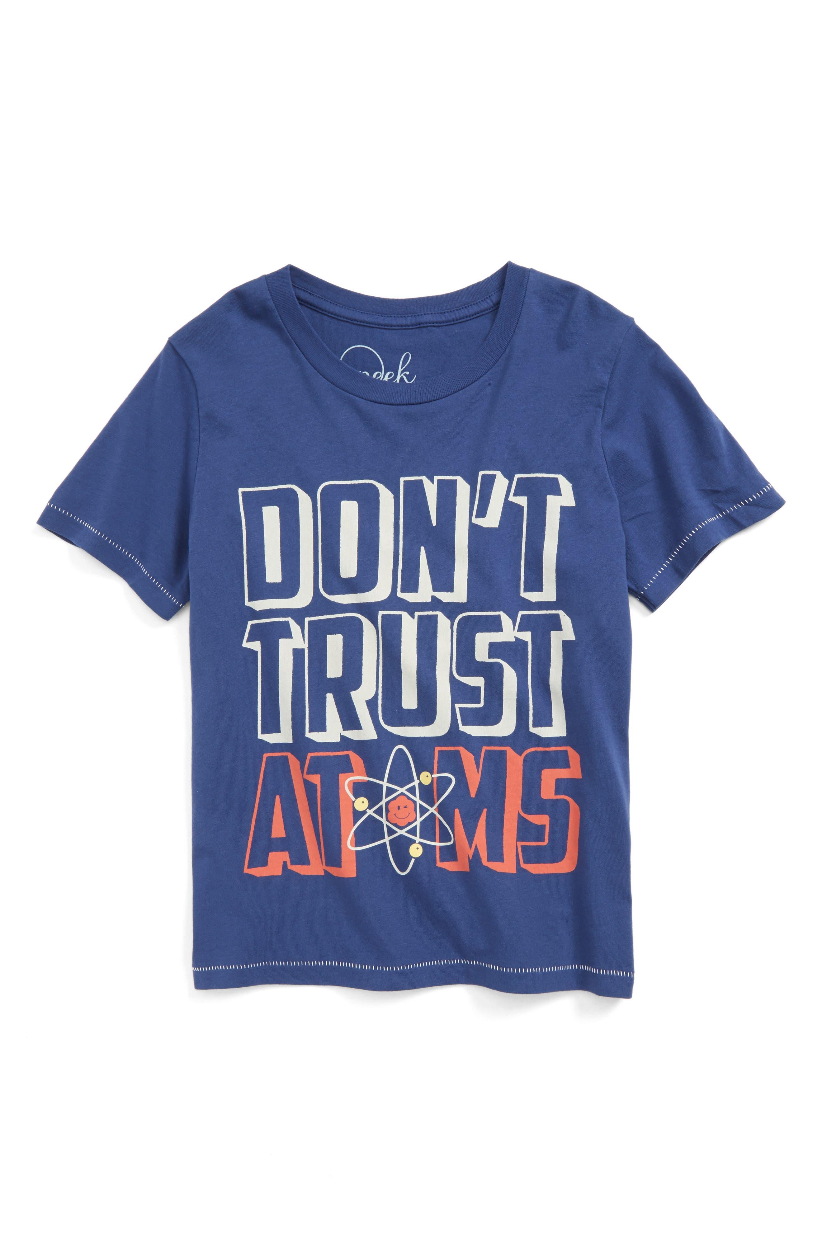 Don't Trust Atoms T-Shirt,                             Main thumbnail 1, color,                             400