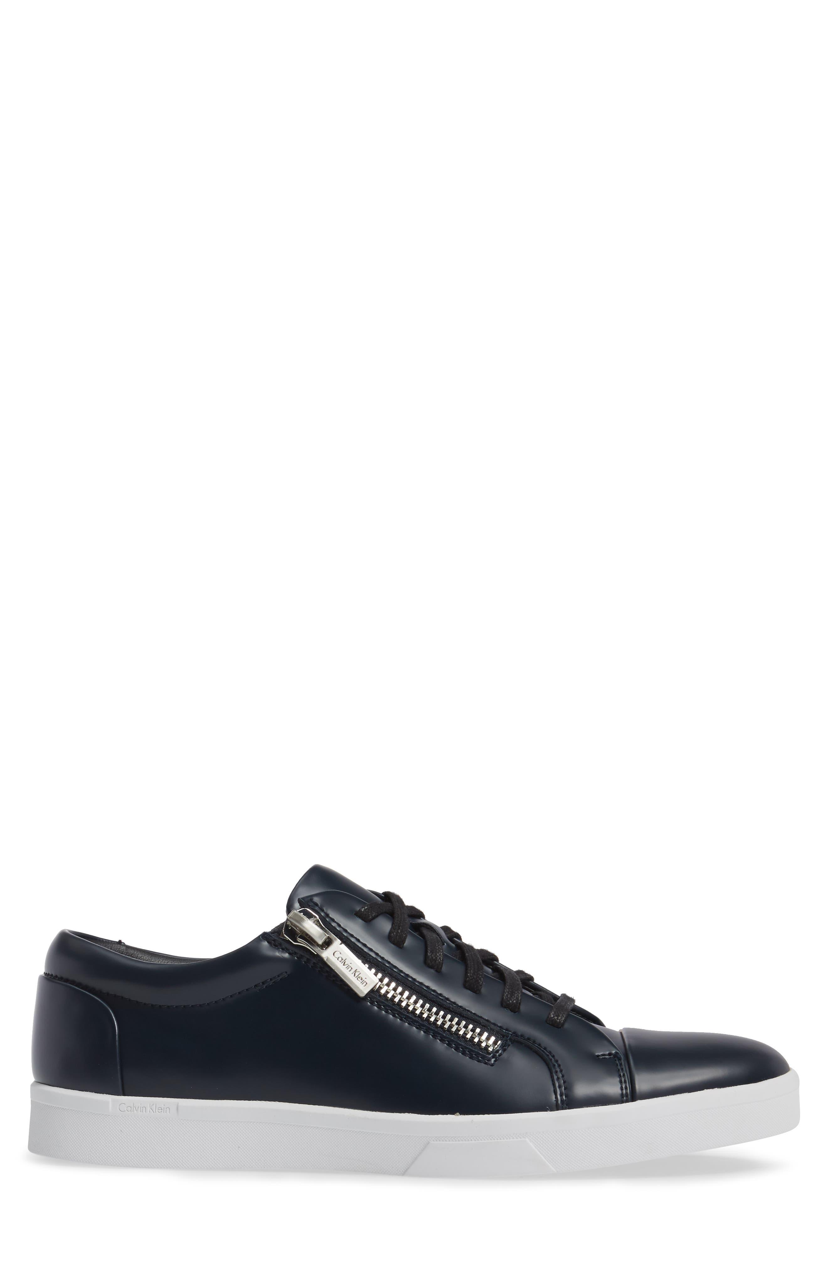Ibrahim Cap-Toe Zip Sneaker,                             Alternate thumbnail 9, color,
