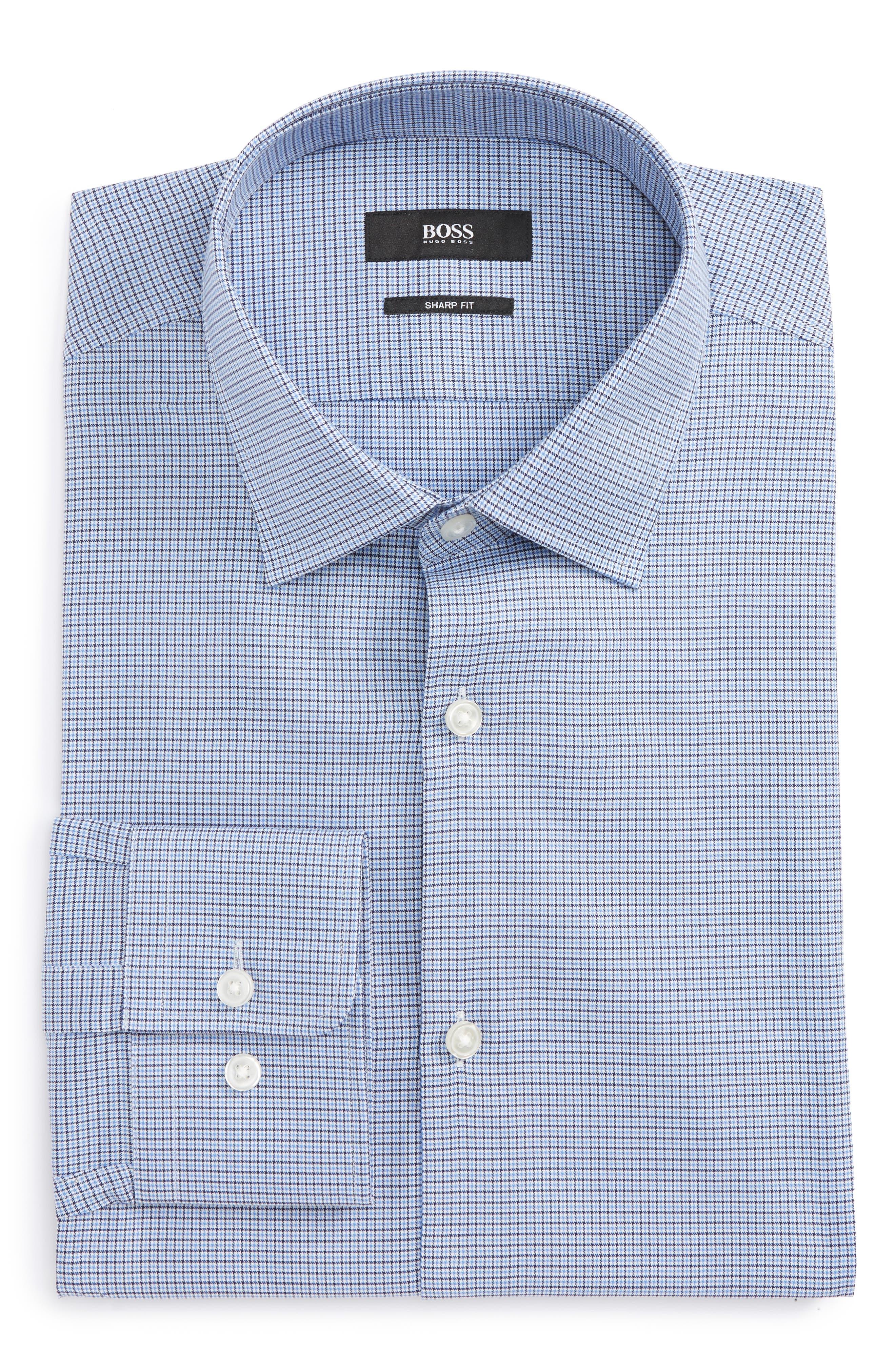 Mark Sharp Fit Check Dress Shirt,                         Main,                         color, 450