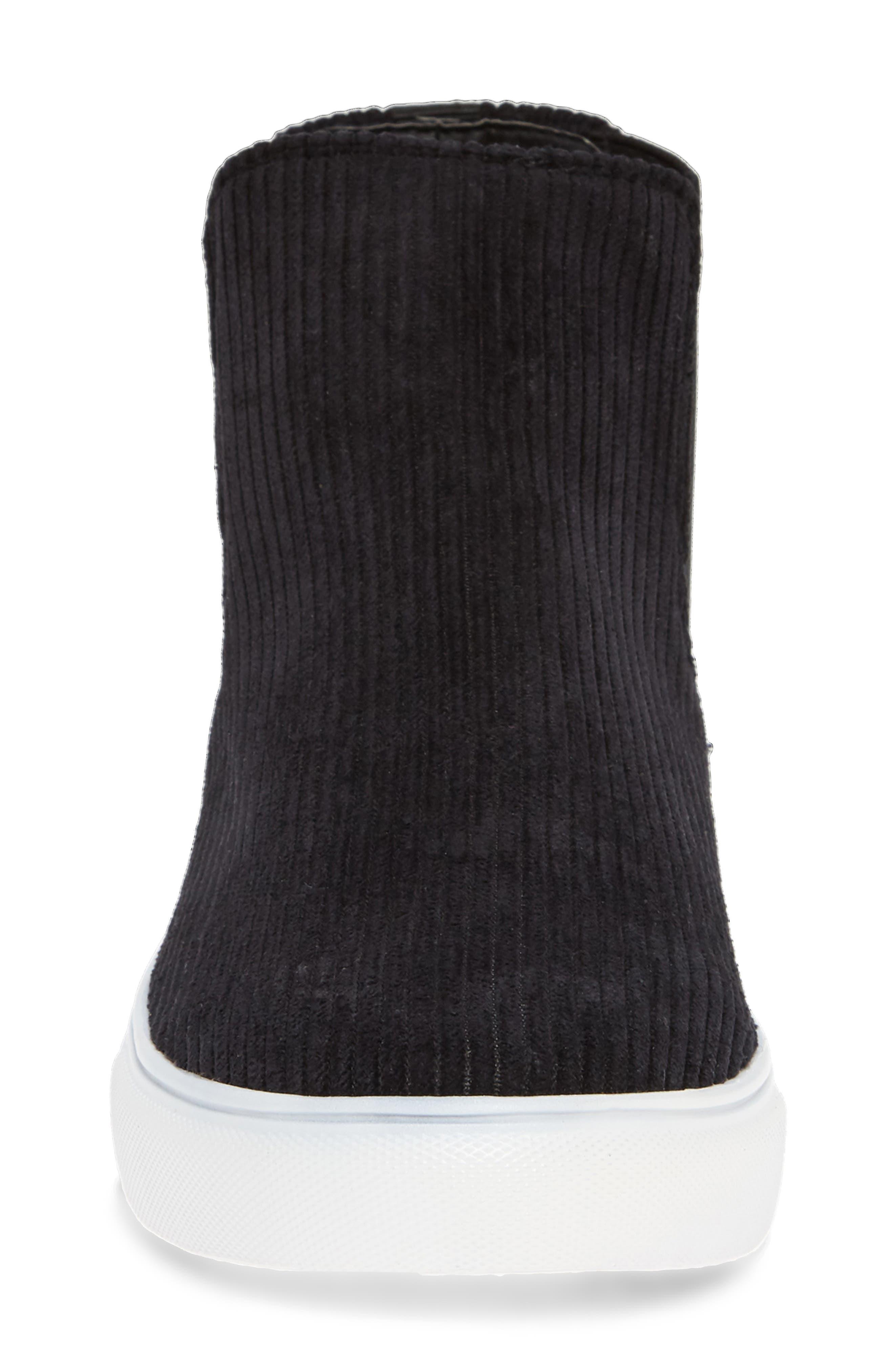 Stratford High Top Sneaker,                             Alternate thumbnail 4, color,                             BLACK FABRIC