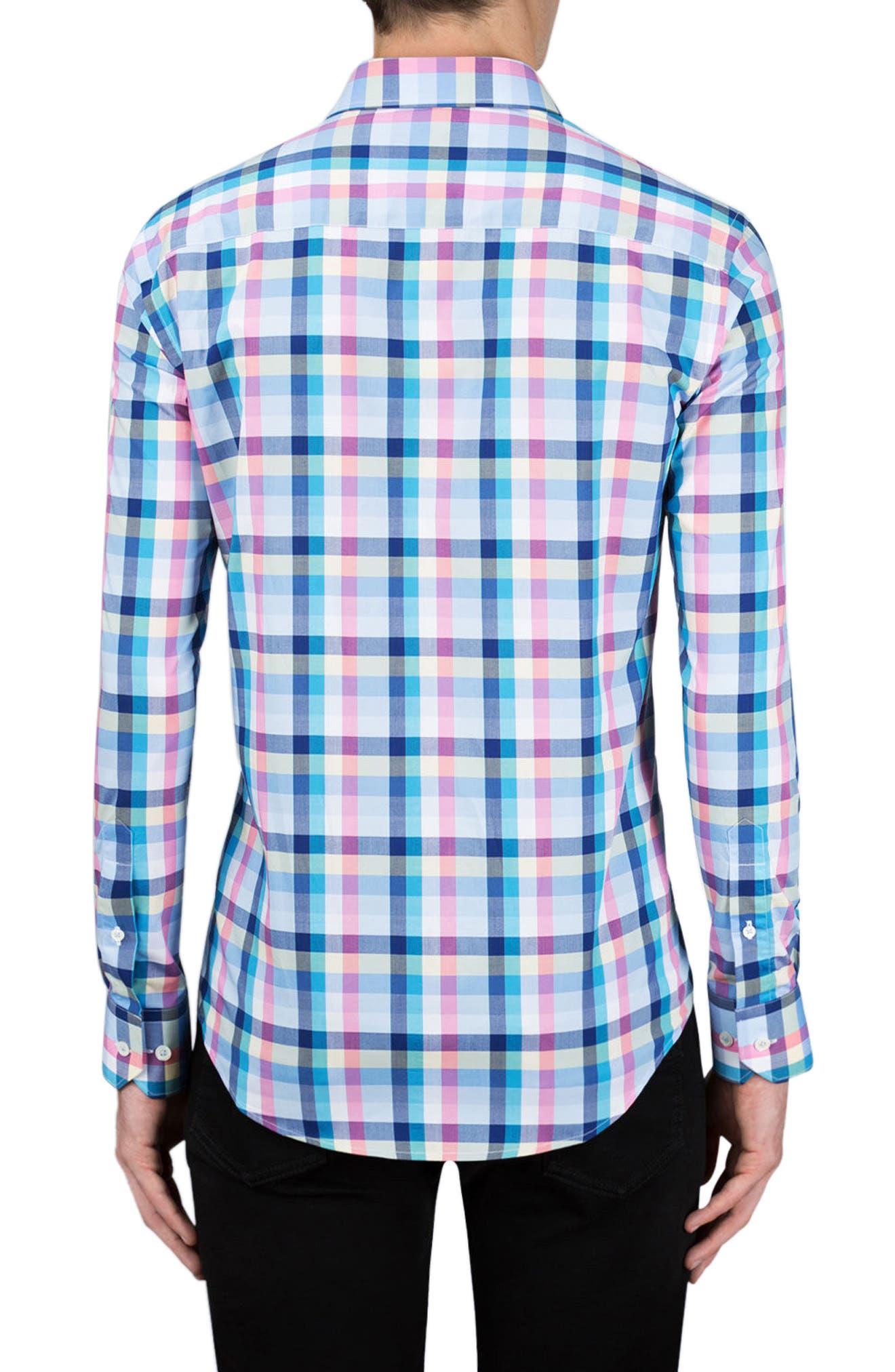 Shaped Fit Check Sport Shirt,                             Alternate thumbnail 2, color,                             420