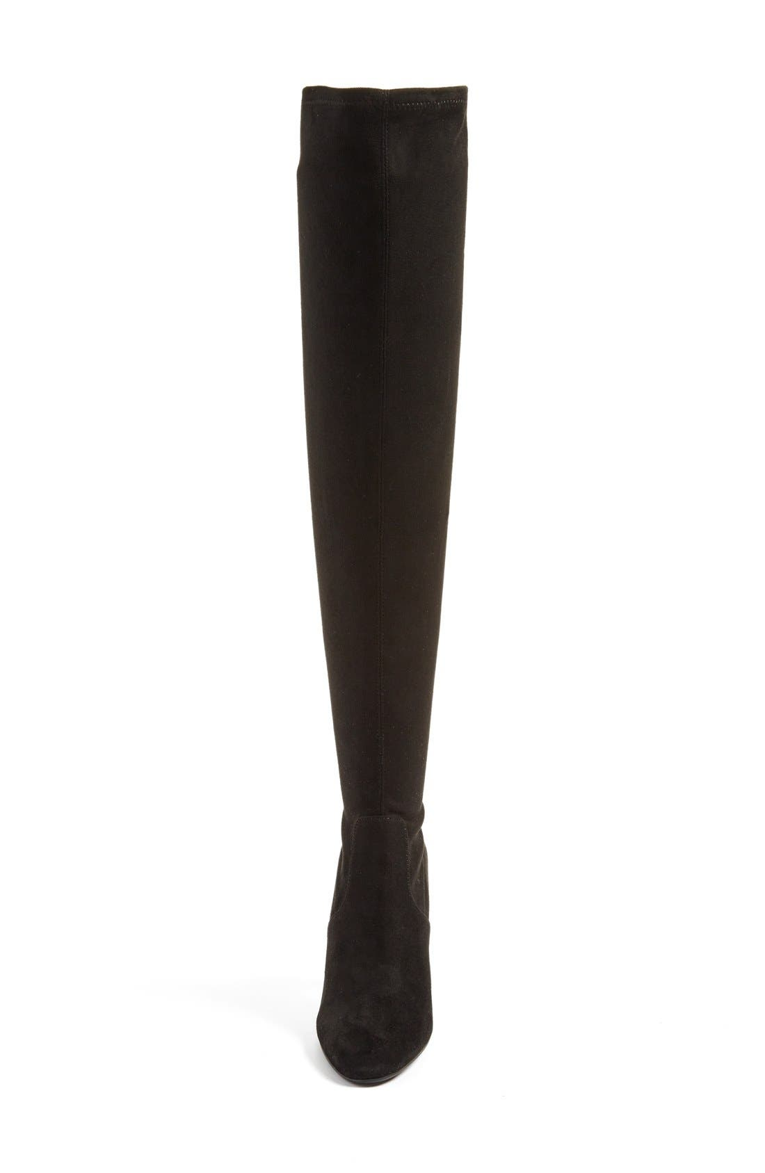 'Emotions' Stretch Over the Knee Boot,                             Alternate thumbnail 4, color,                             001