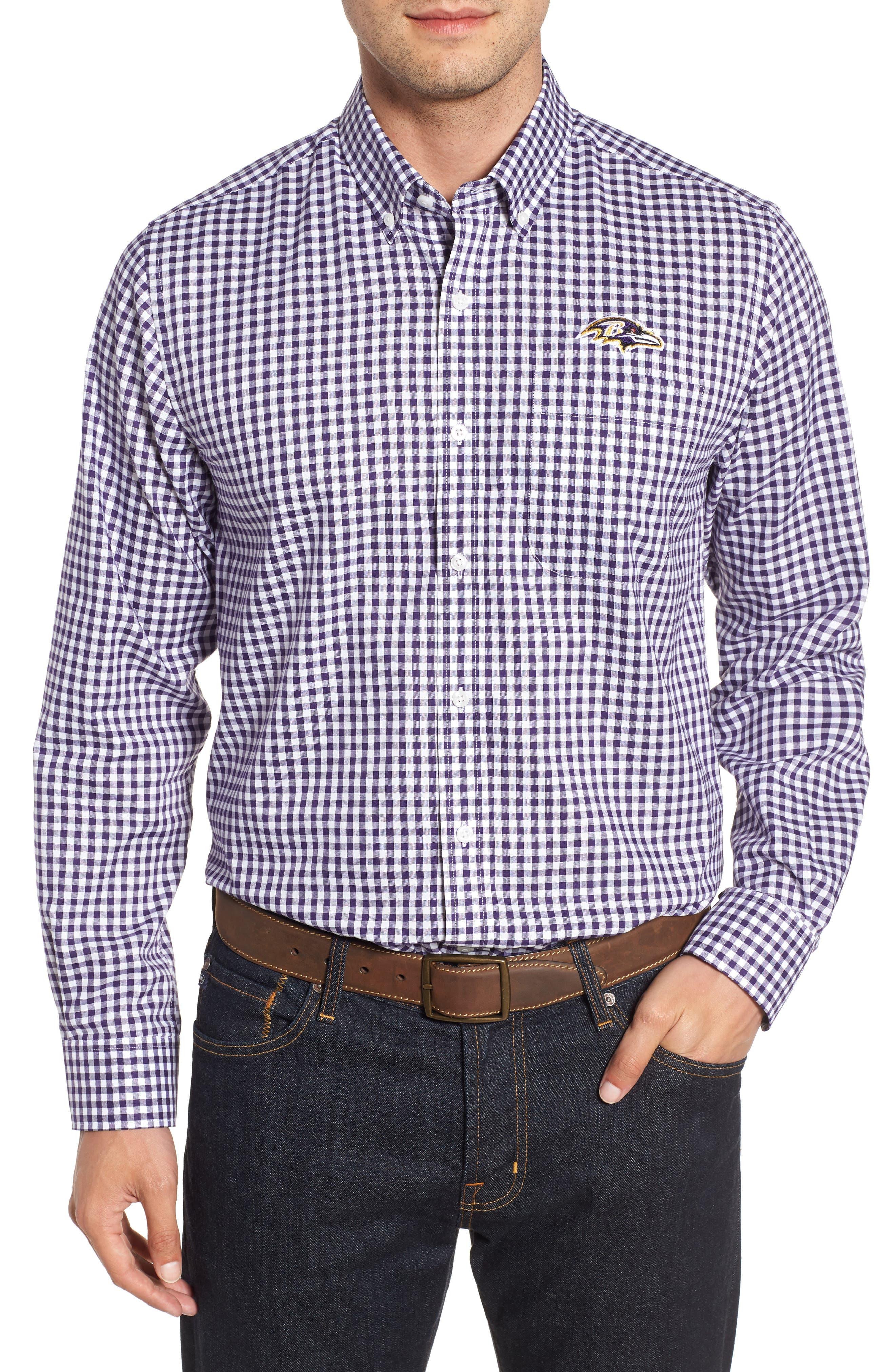 League Baltimore Ravens Regular Fit Shirt,                         Main,                         color, COLLEGE PURPLE