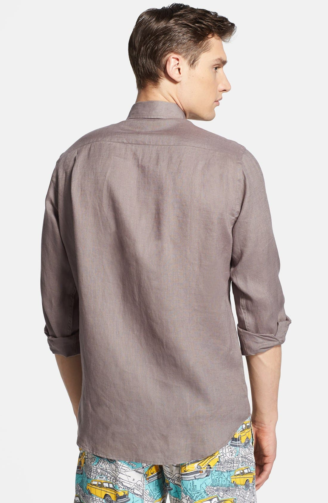 'Caroubier' Linen Shirt,                             Alternate thumbnail 33, color,