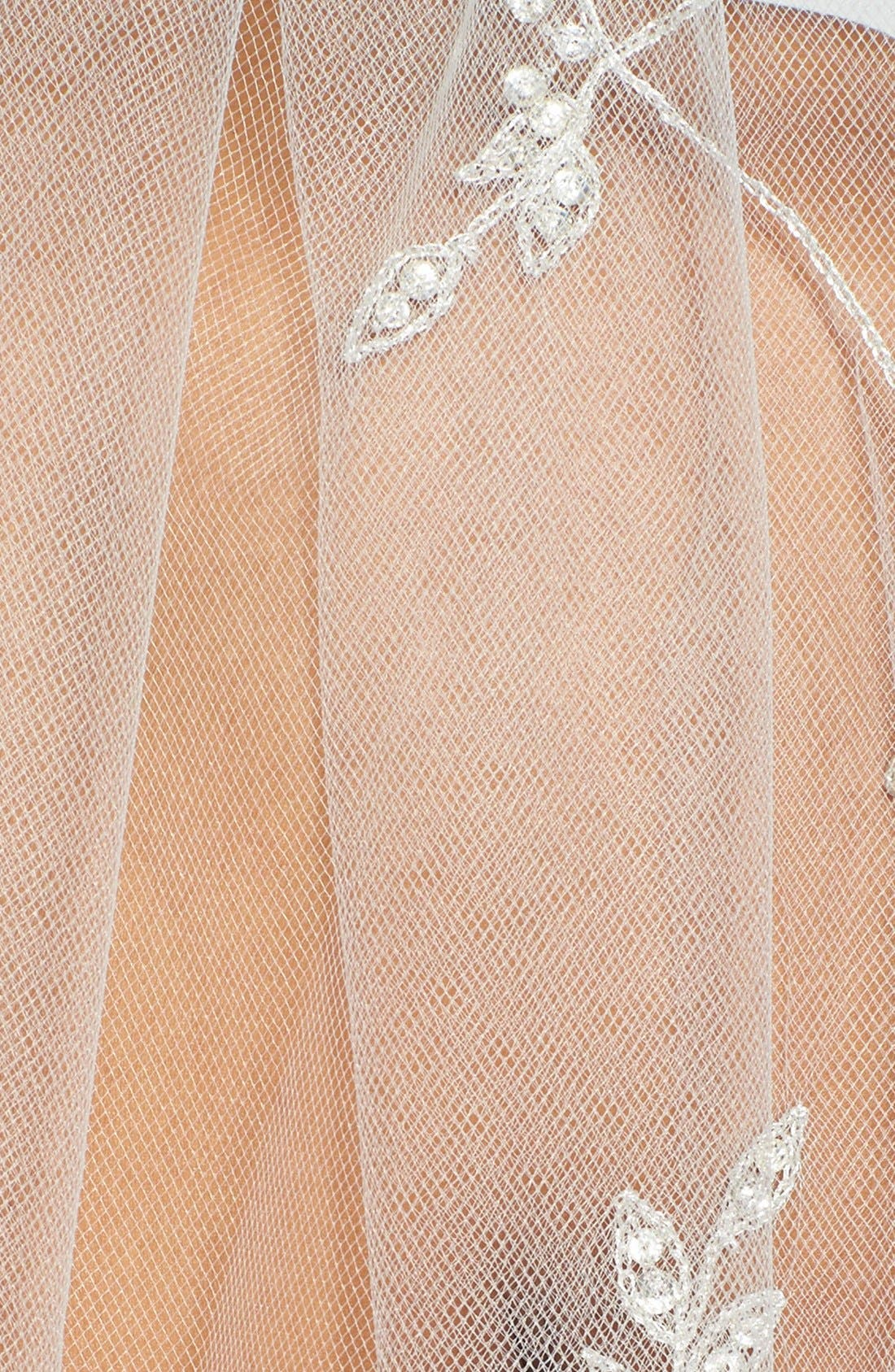 'Chanson' Embroidered Cathedral Veil,                             Alternate thumbnail 2, color,                             900