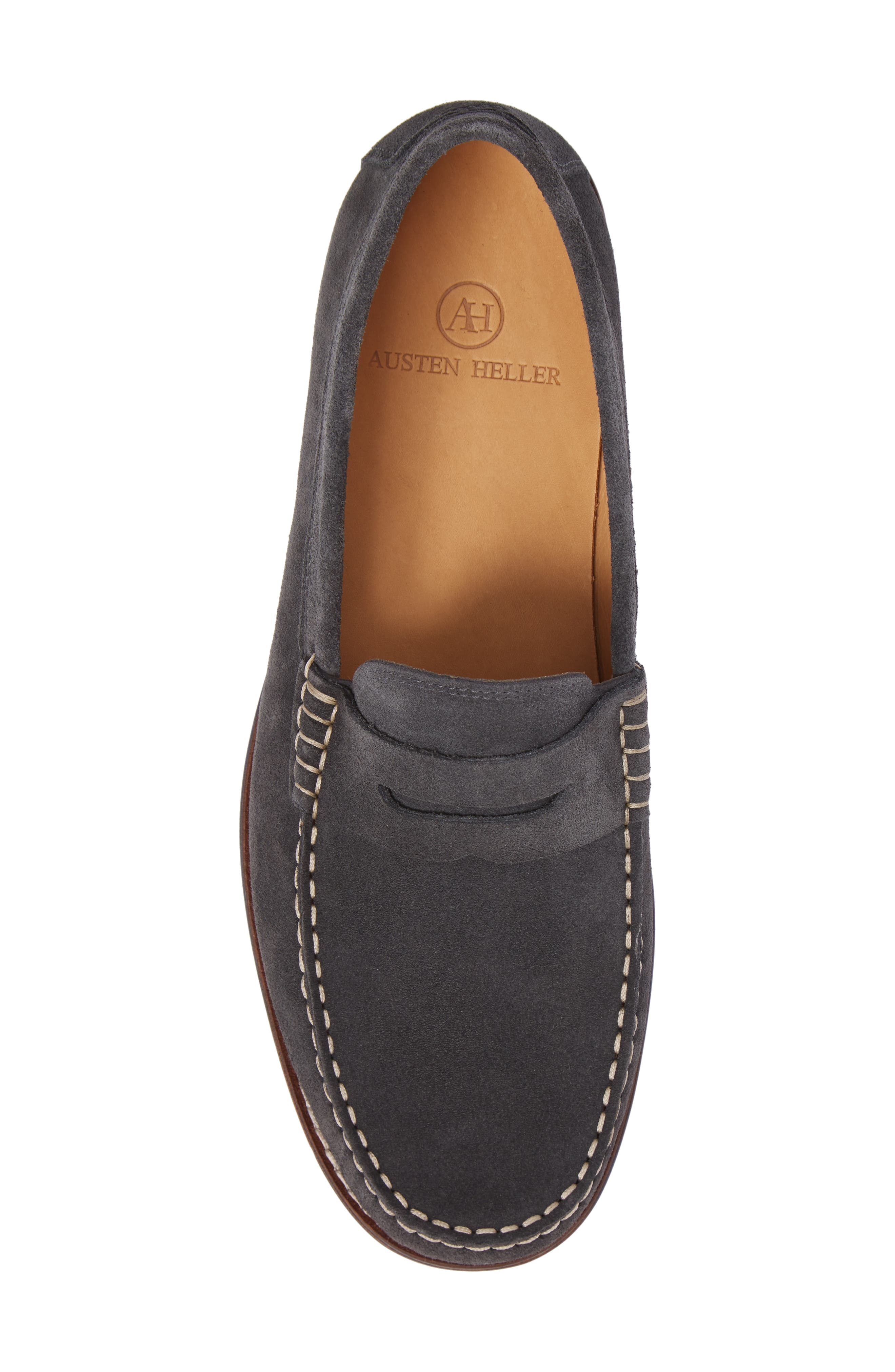 Ripley Penny Loafer,                             Alternate thumbnail 5, color,                             GREY LEATHER