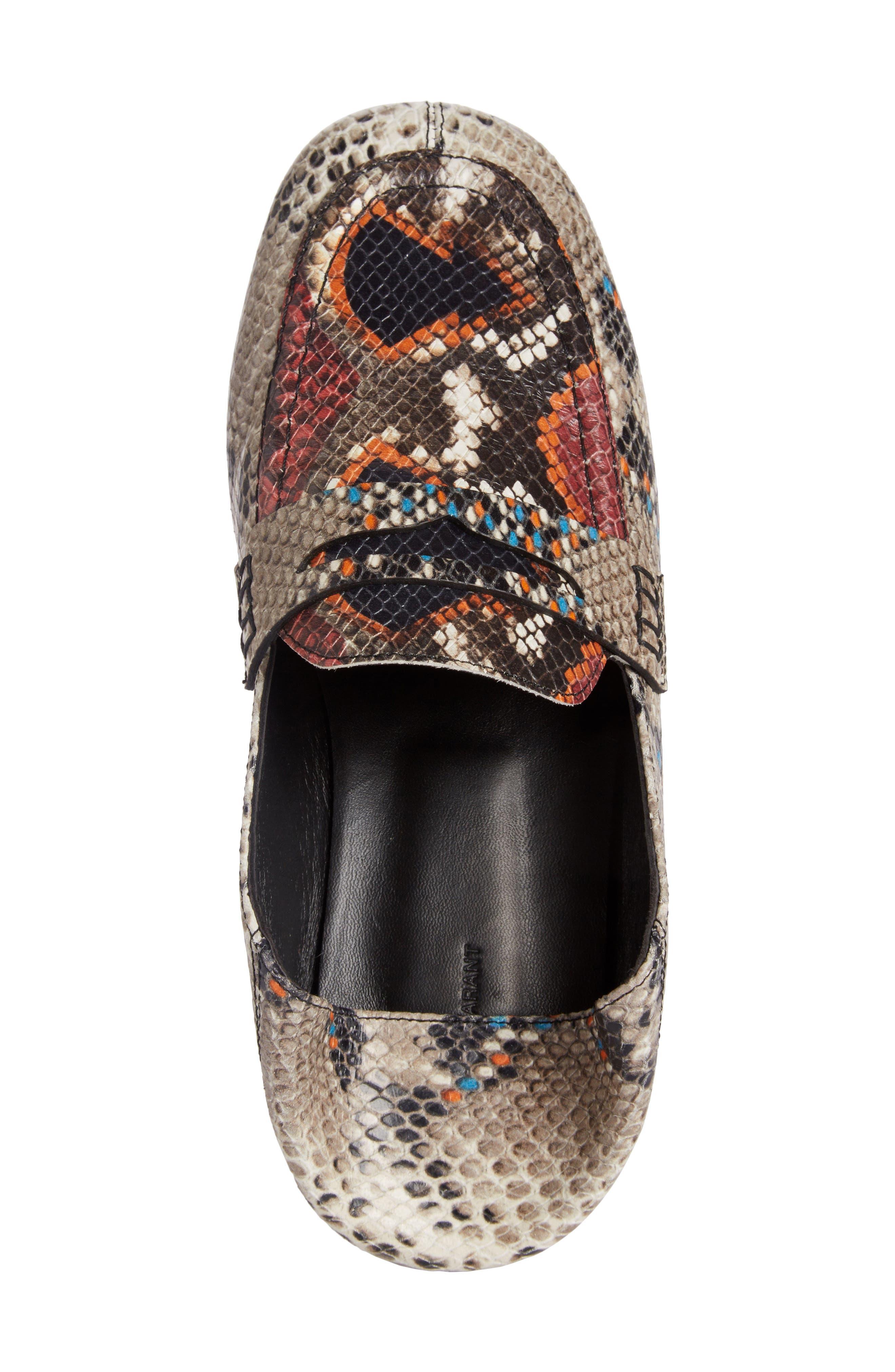 Fezzy Snakeskin Embossed Convertible Loafer,                             Alternate thumbnail 4, color,