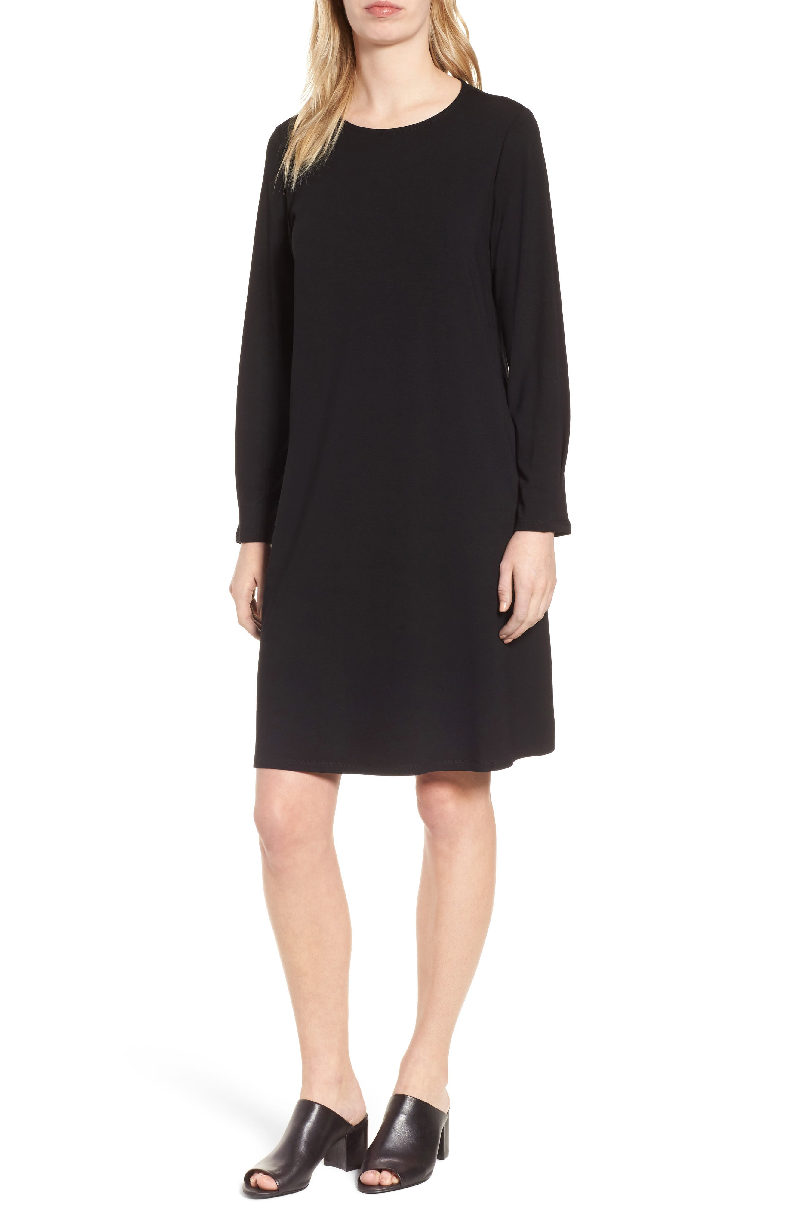 Jersey Shift Dress,                             Main thumbnail 1, color,                             001
