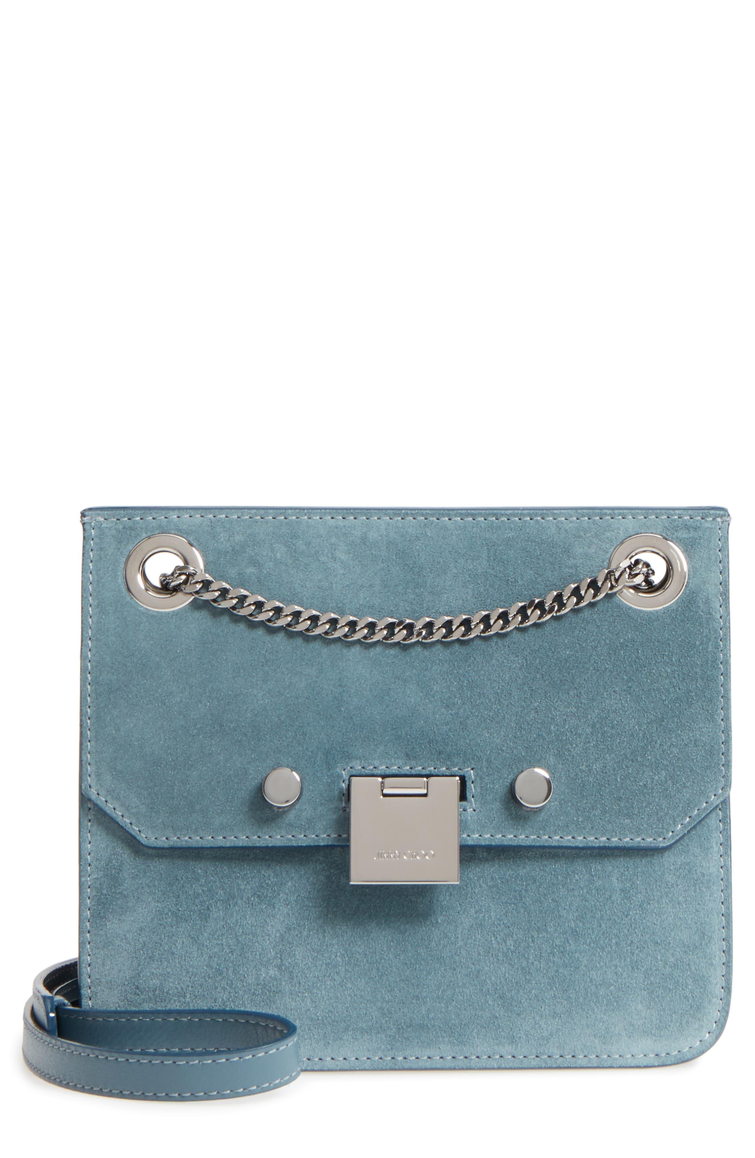 Rebel Suede Crossbody Bag,                         Main,                         color, 420