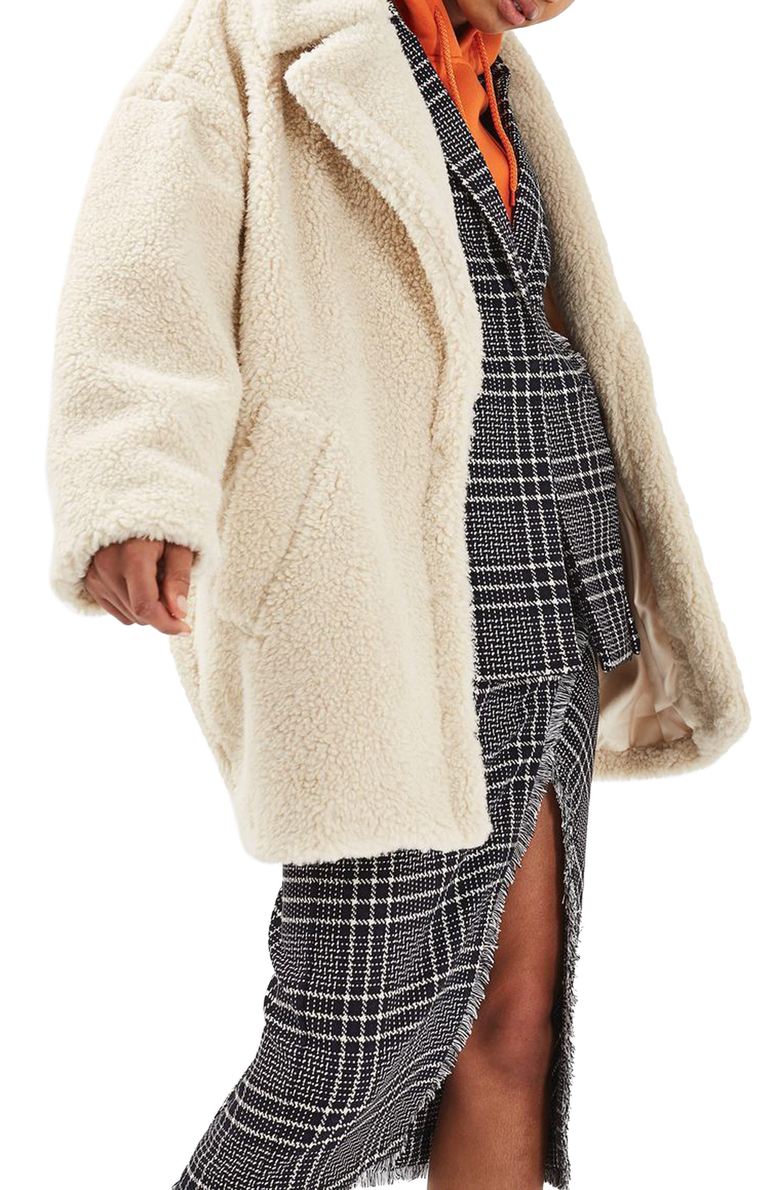 Borg Cocoon Coat,                         Main,                         color, 900