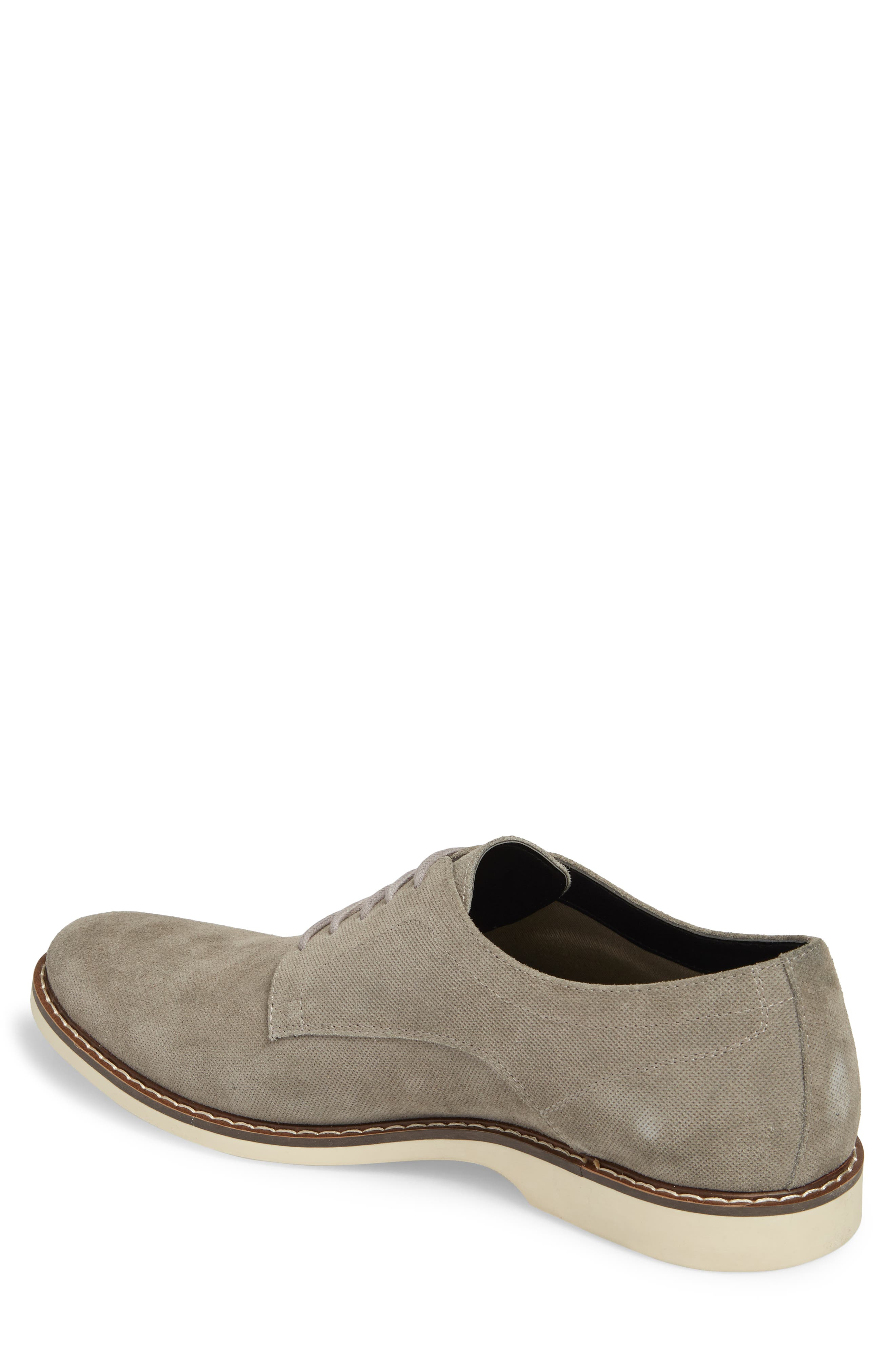 Georgetown Textured Derby,                             Alternate thumbnail 2, color,                             GREY SUEDE