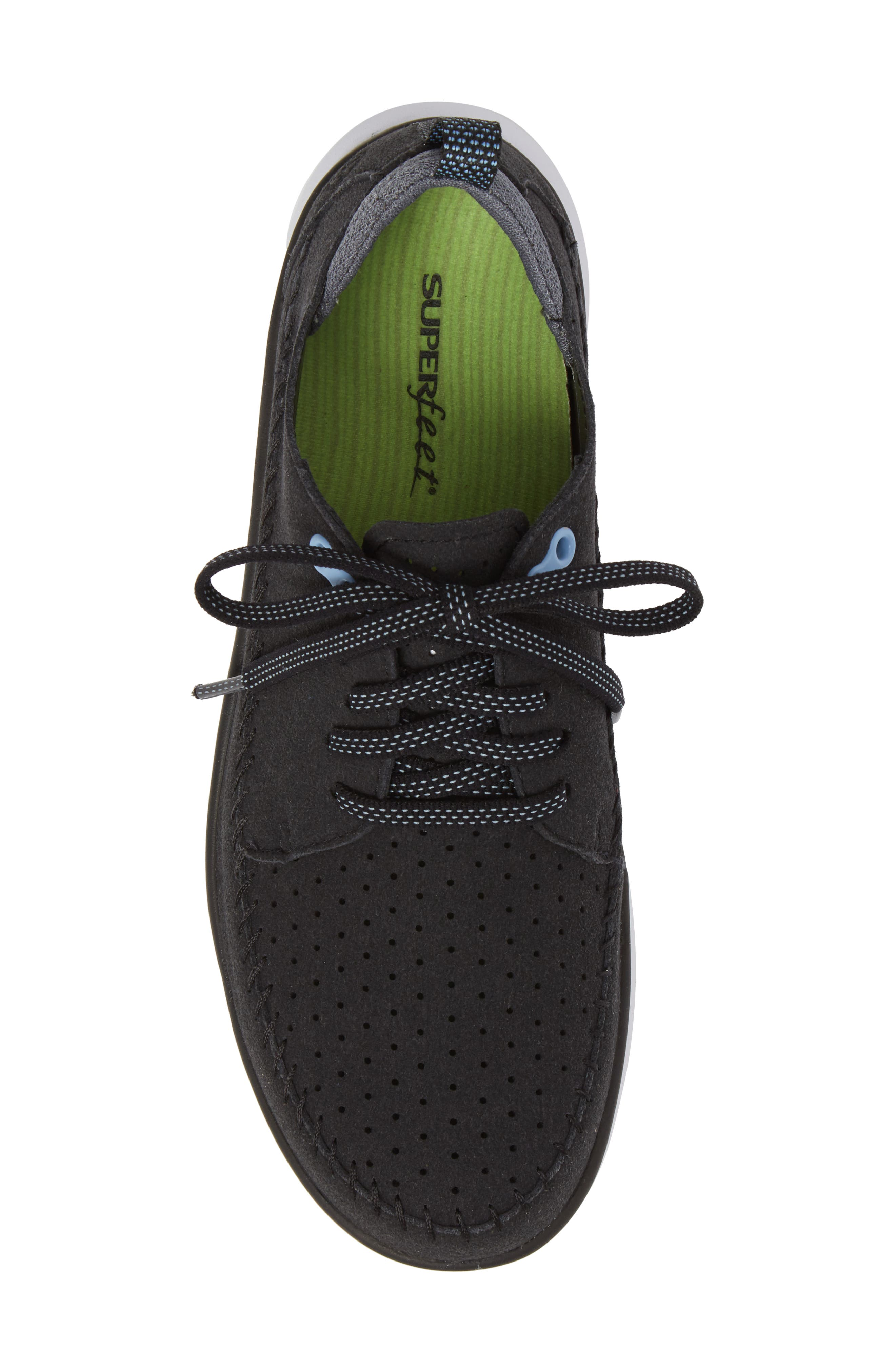 Addy Sneaker,                             Alternate thumbnail 5, color,                             BLACK FABRIC