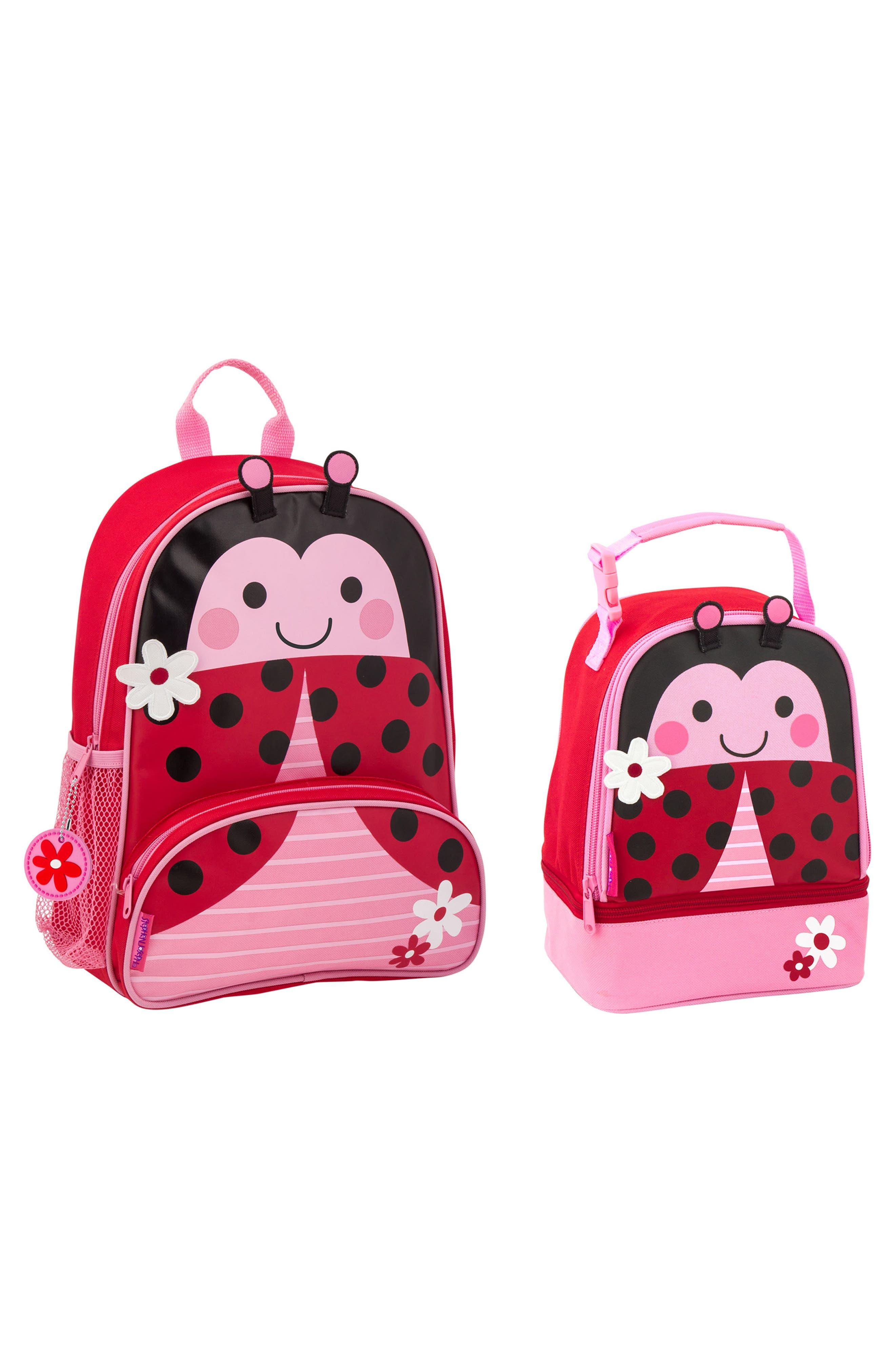 STEPHEN JOSEPH Ladybug Sidekick Backpack & Lunch Pal, Main, color, LADYBUG