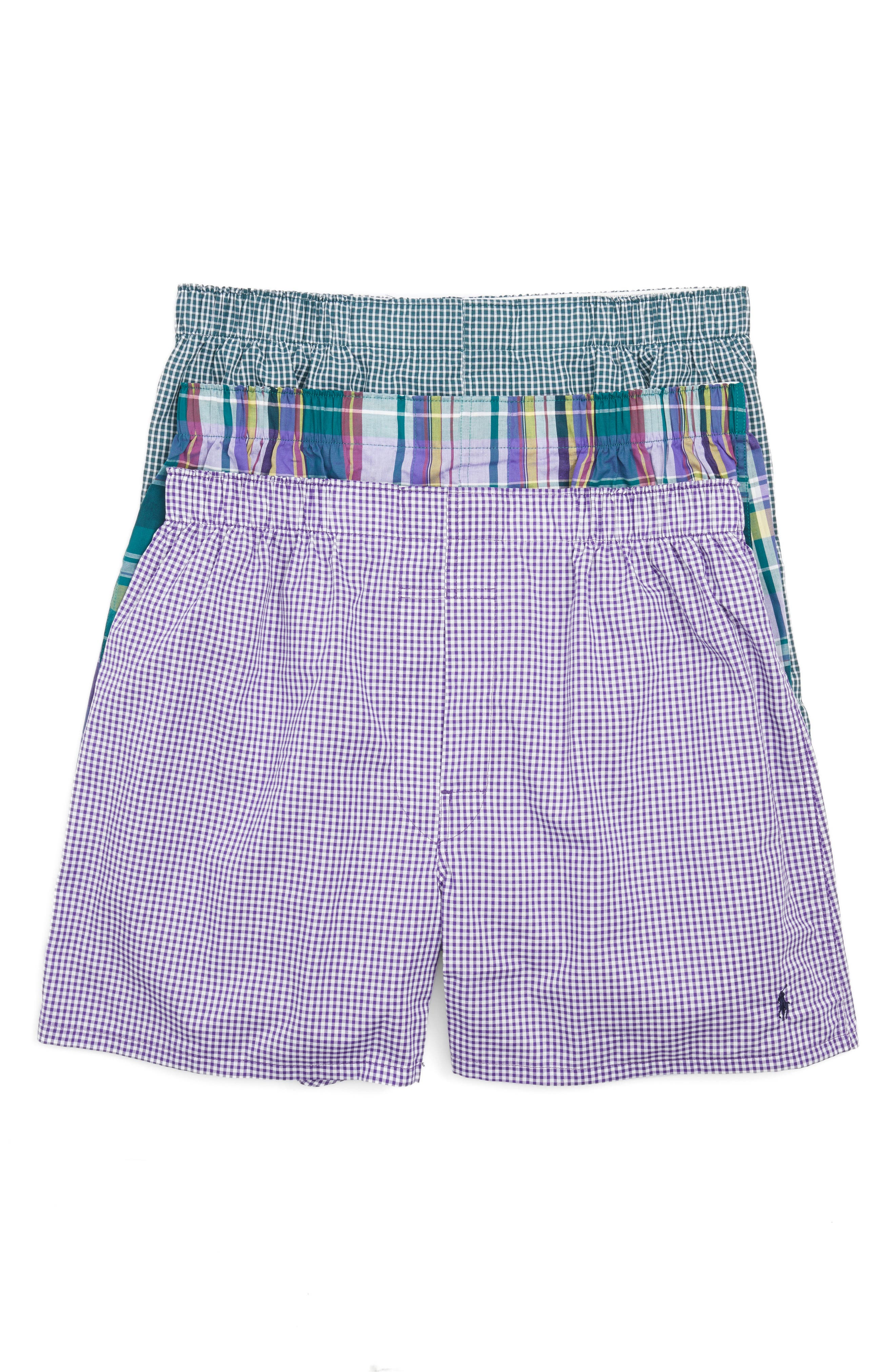 Assorted 3-Pack Woven Cotton Boxers,                             Main thumbnail 3, color,