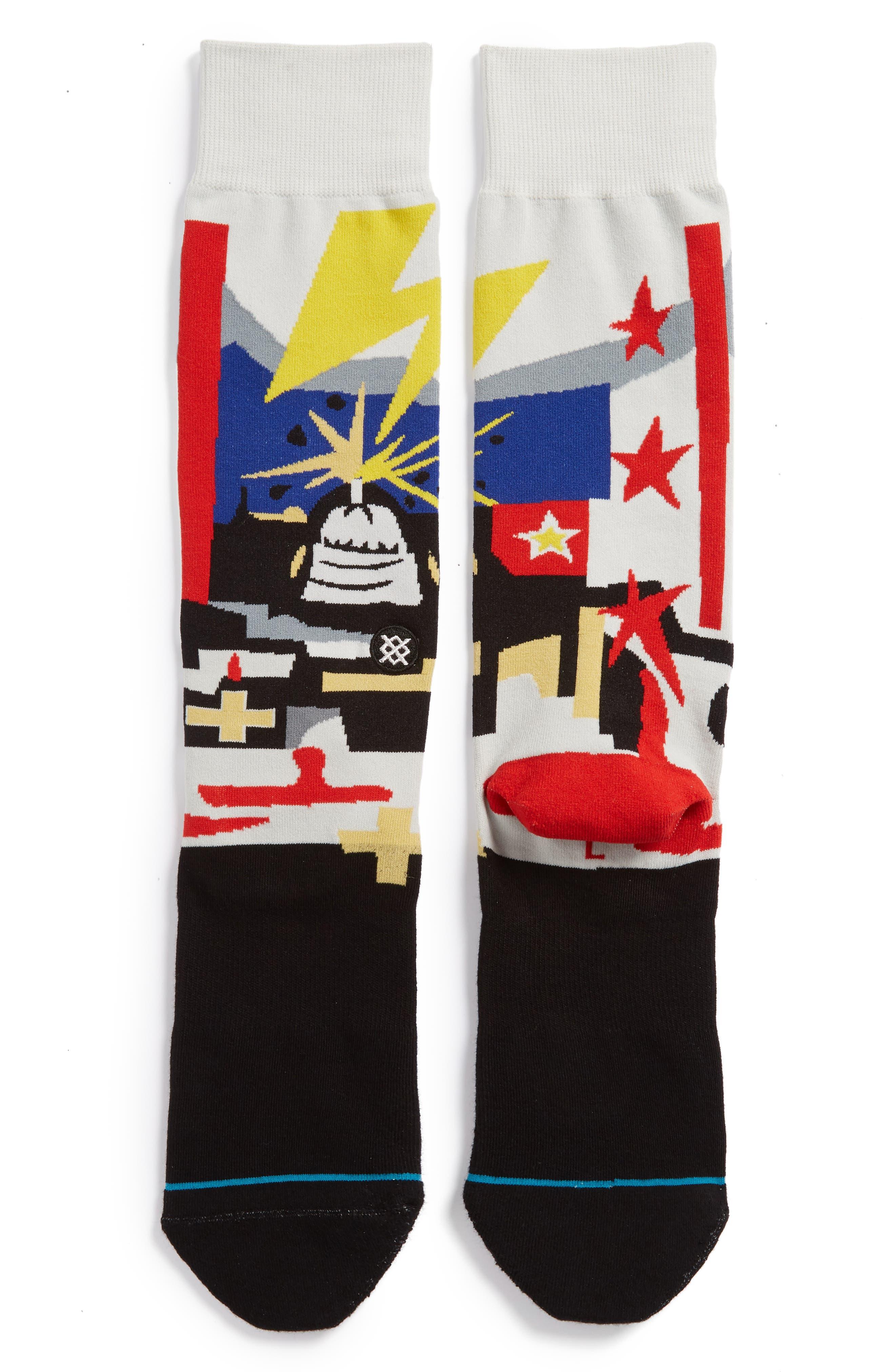 Supertouch Socks,                             Main thumbnail 1, color,                             BLACK