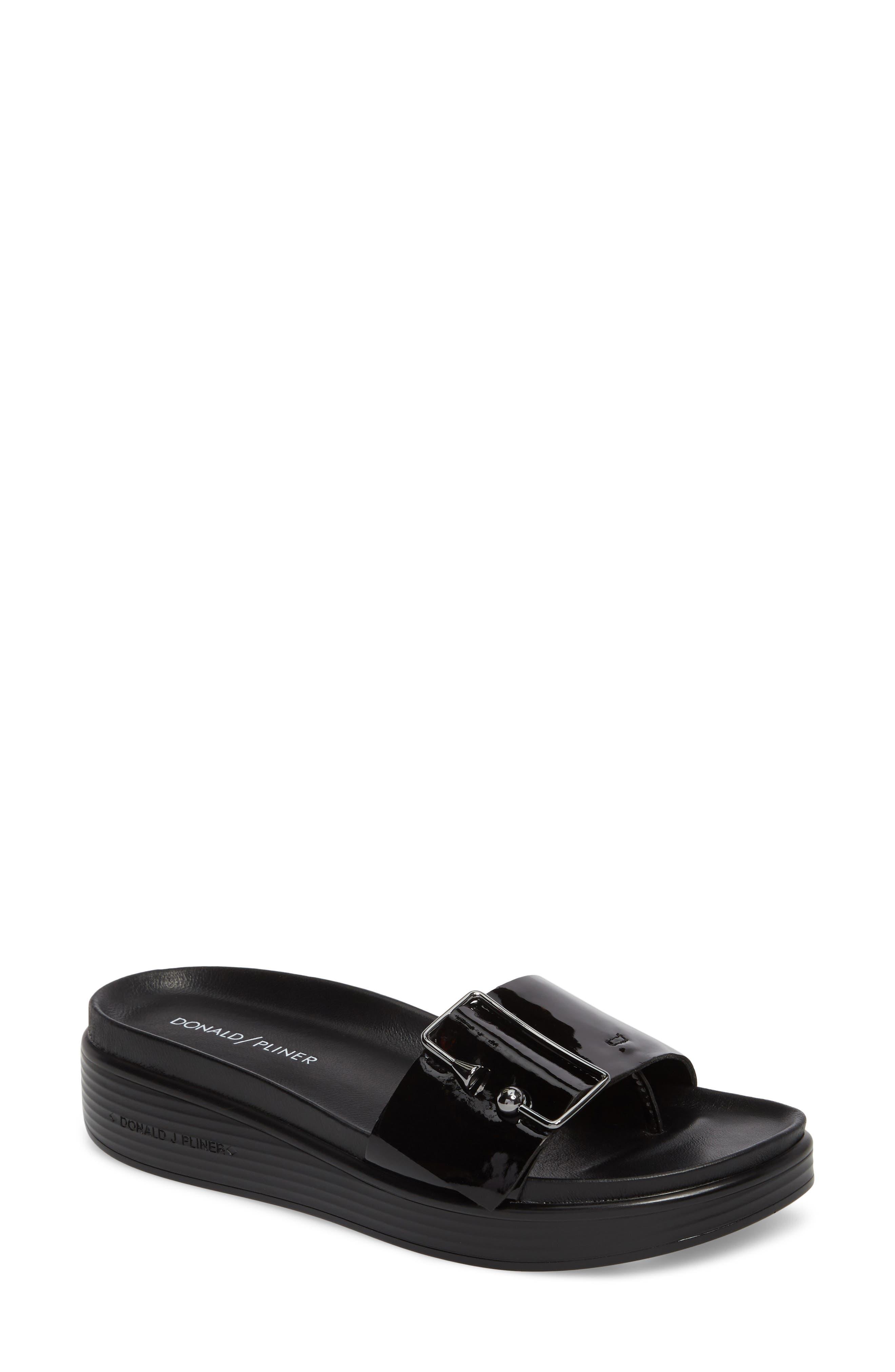 Fara Platform Slide Sandal,                             Main thumbnail 1, color,                             001