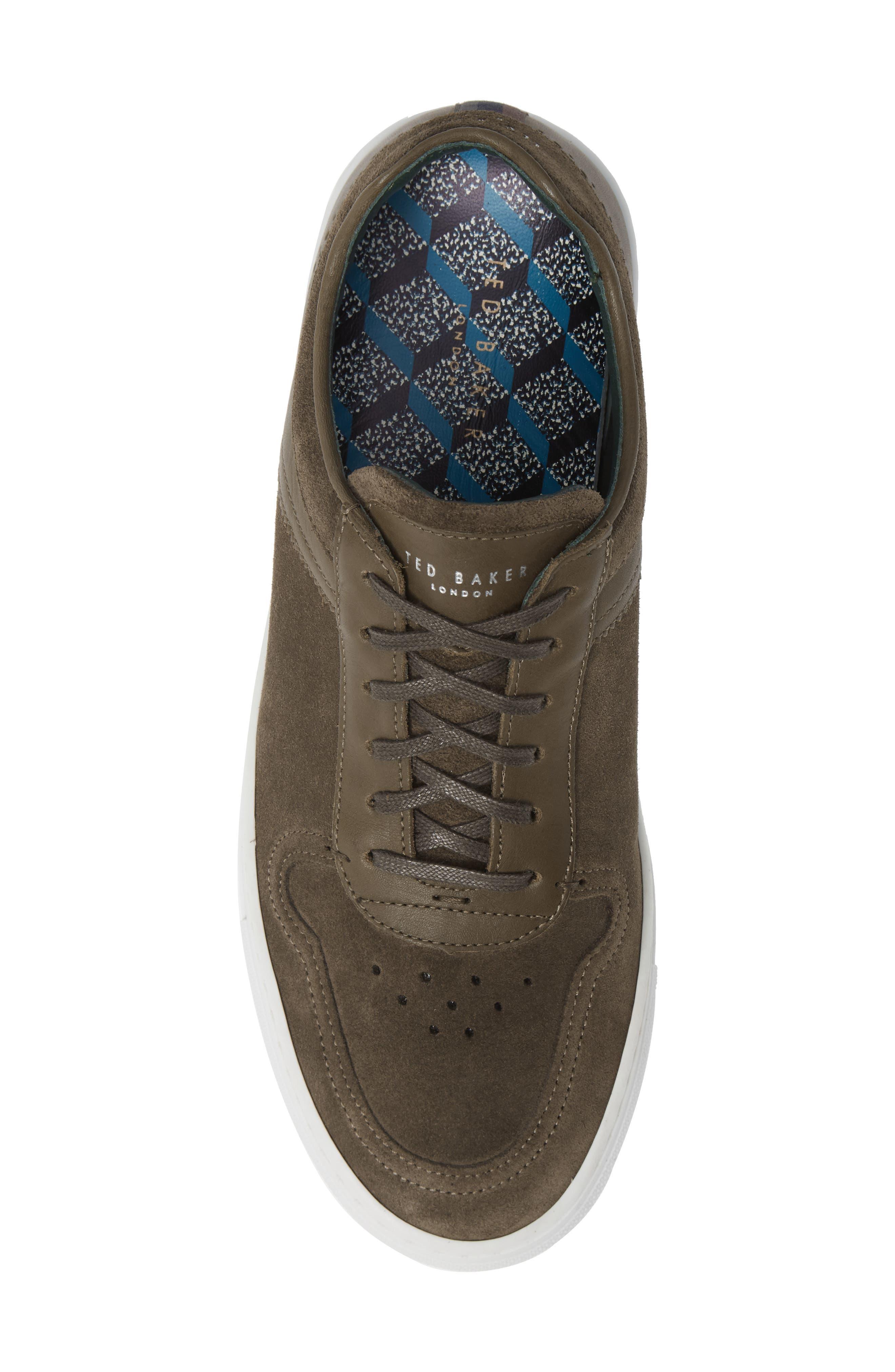Burall Sneaker,                             Alternate thumbnail 5, color,                             DARK GREEN SUEDE