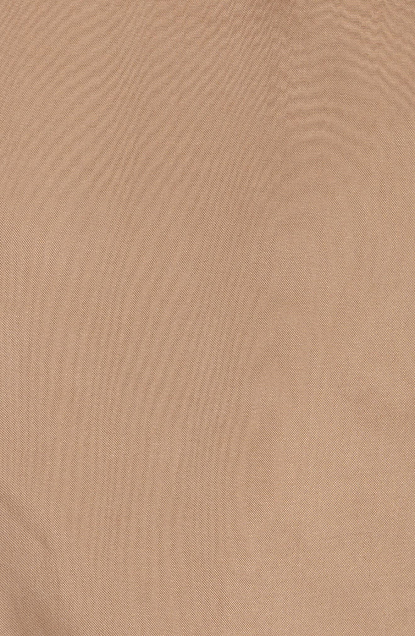 Trench Combo Leather Miniskirt,                             Alternate thumbnail 5, color,                             205