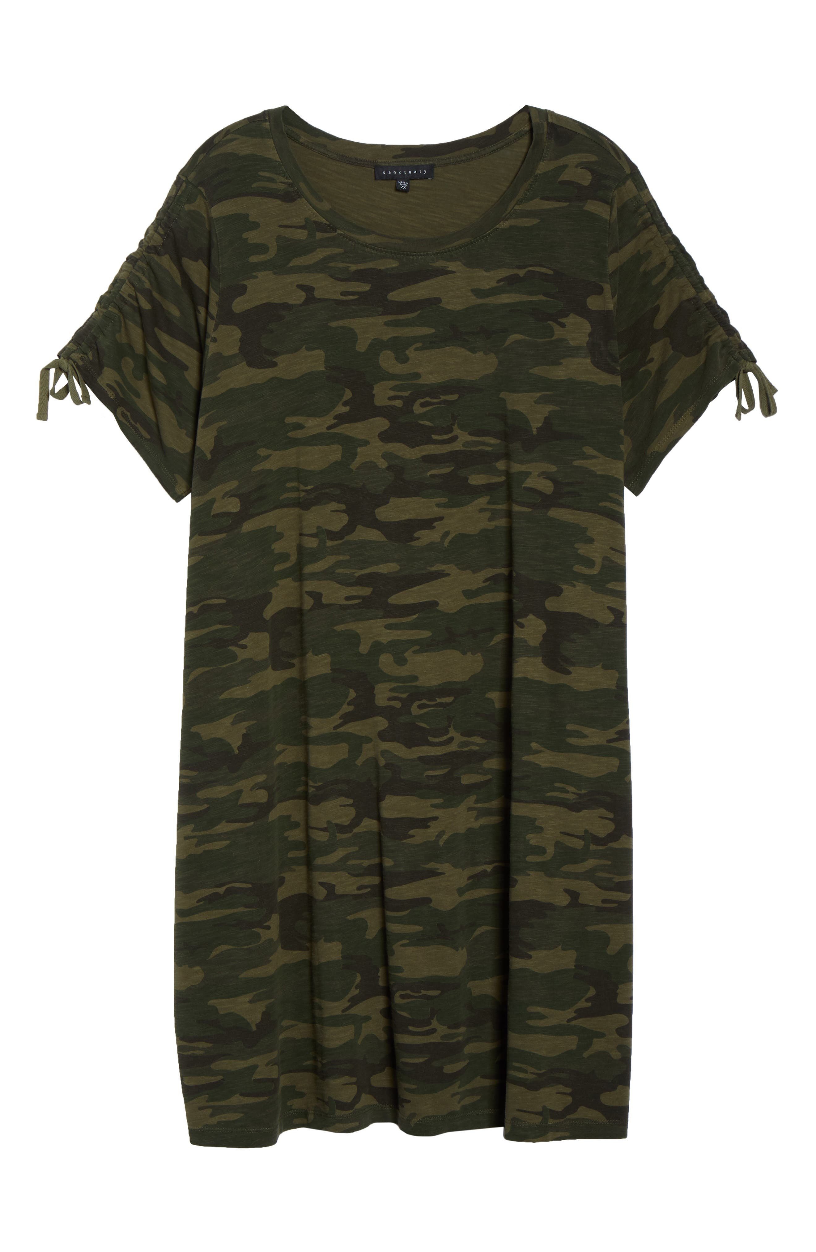 Ojai Camo T-Shirt Dress,                             Alternate thumbnail 3, color,                             MOTHER NATURE CAMO