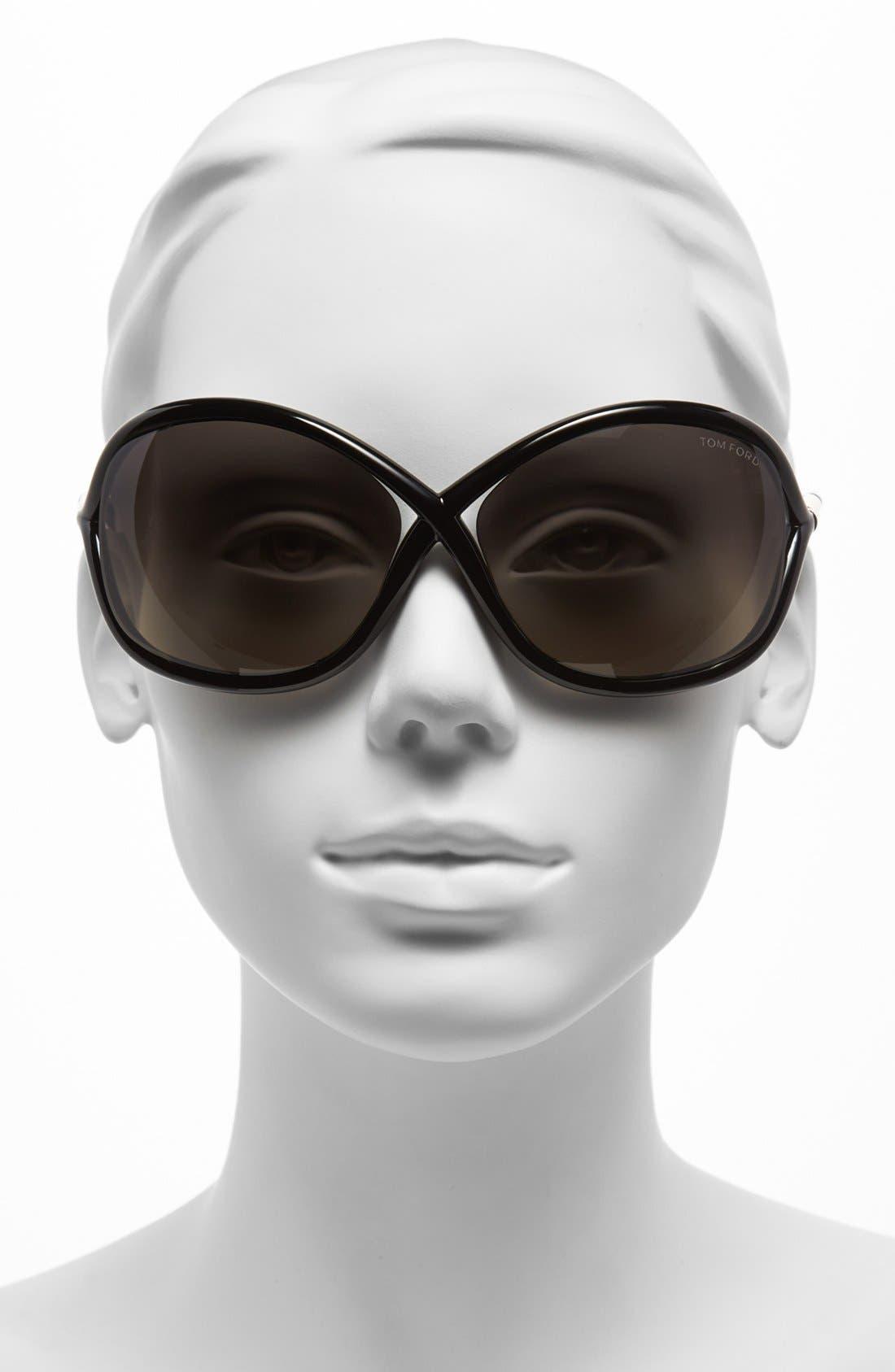 'Whitney' 64mm Polarized Sunglasses,                             Alternate thumbnail 2, color,                             001