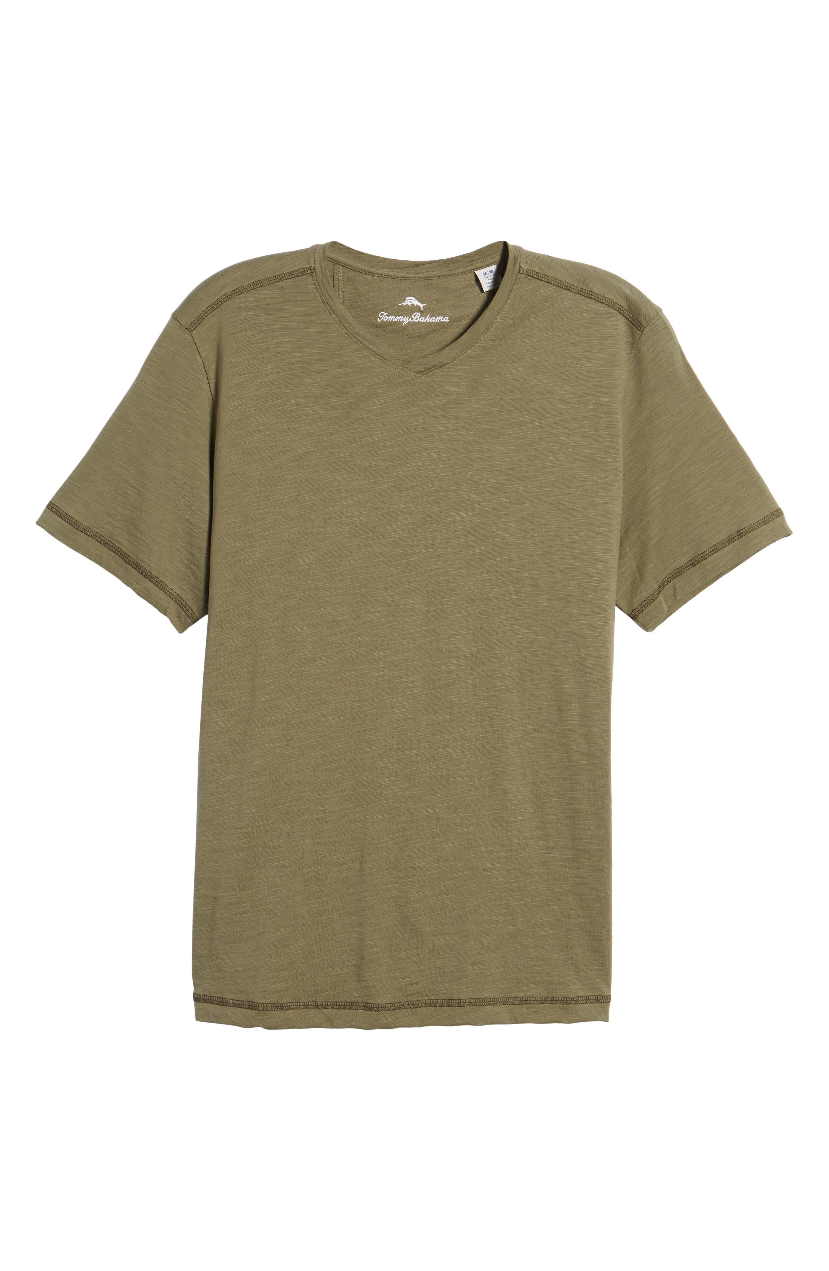 Portside Palms V-Neck T-Shirt,                             Alternate thumbnail 49, color,