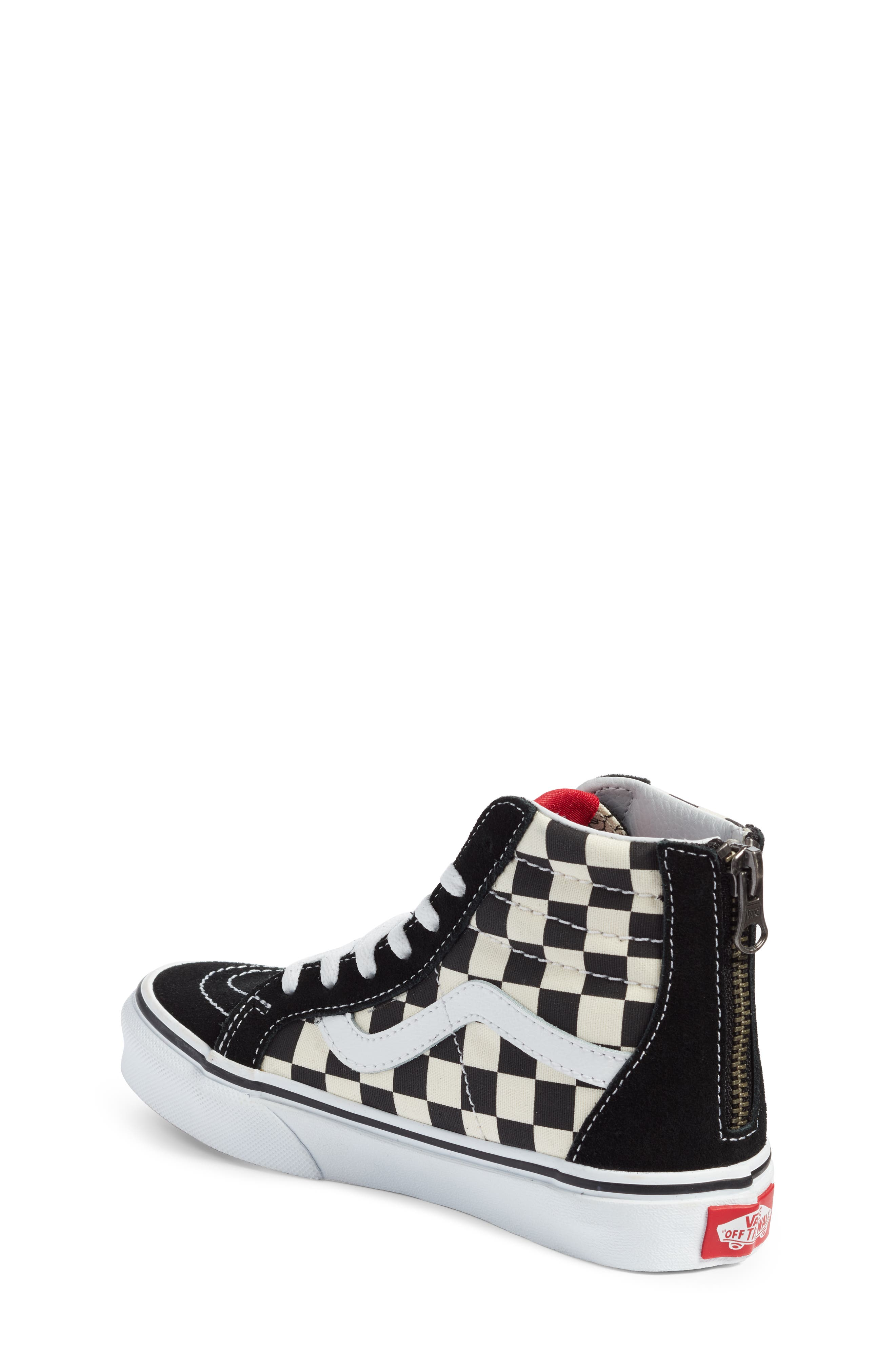 x Disney Mickey Mouse SK8-Hi Zip Sneaker,                             Alternate thumbnail 2, color,                             DISNEY MICKEY CHECKERBOARD