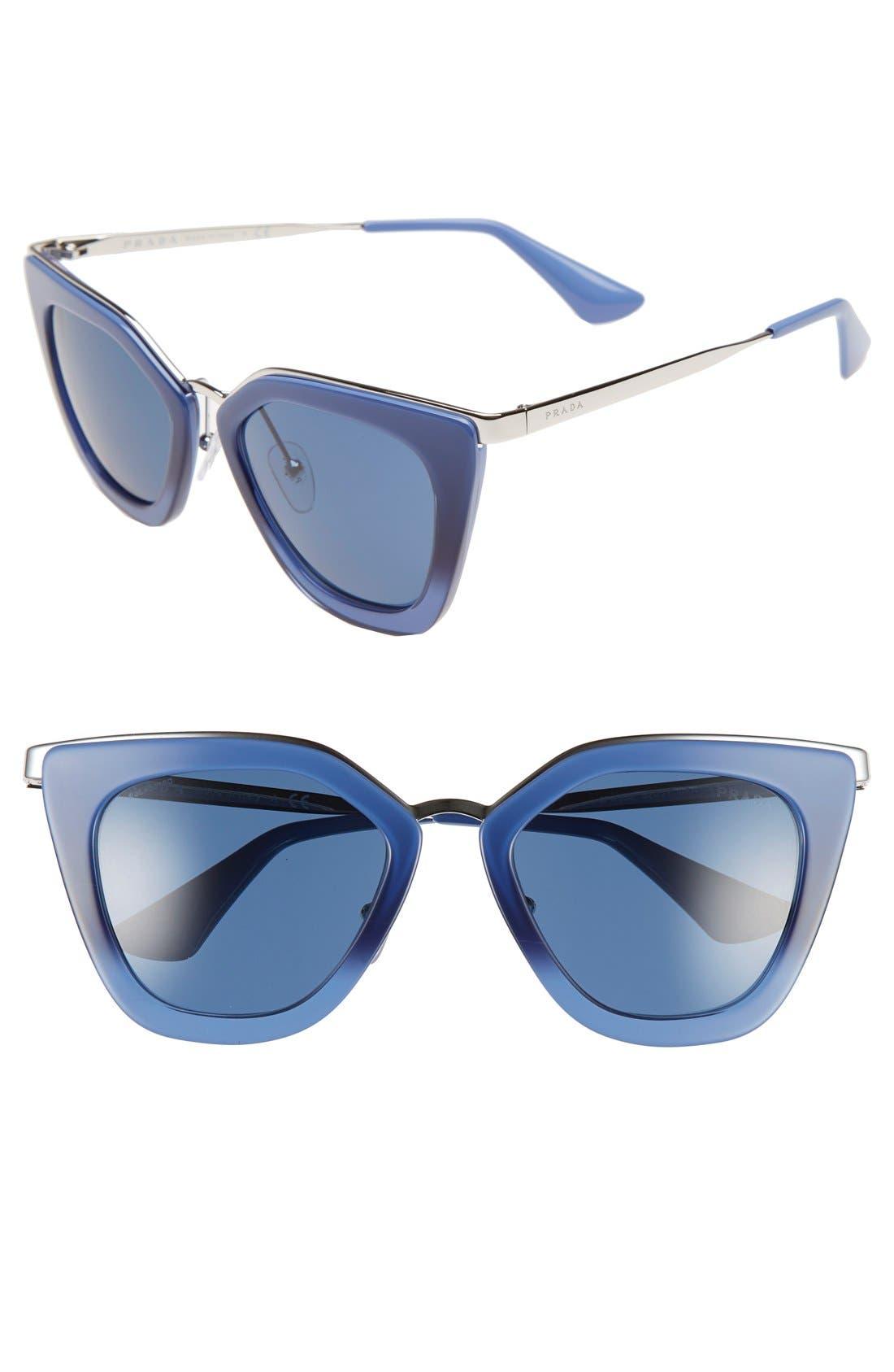 52mm Cat Eye Sunglasses,                             Main thumbnail 5, color,