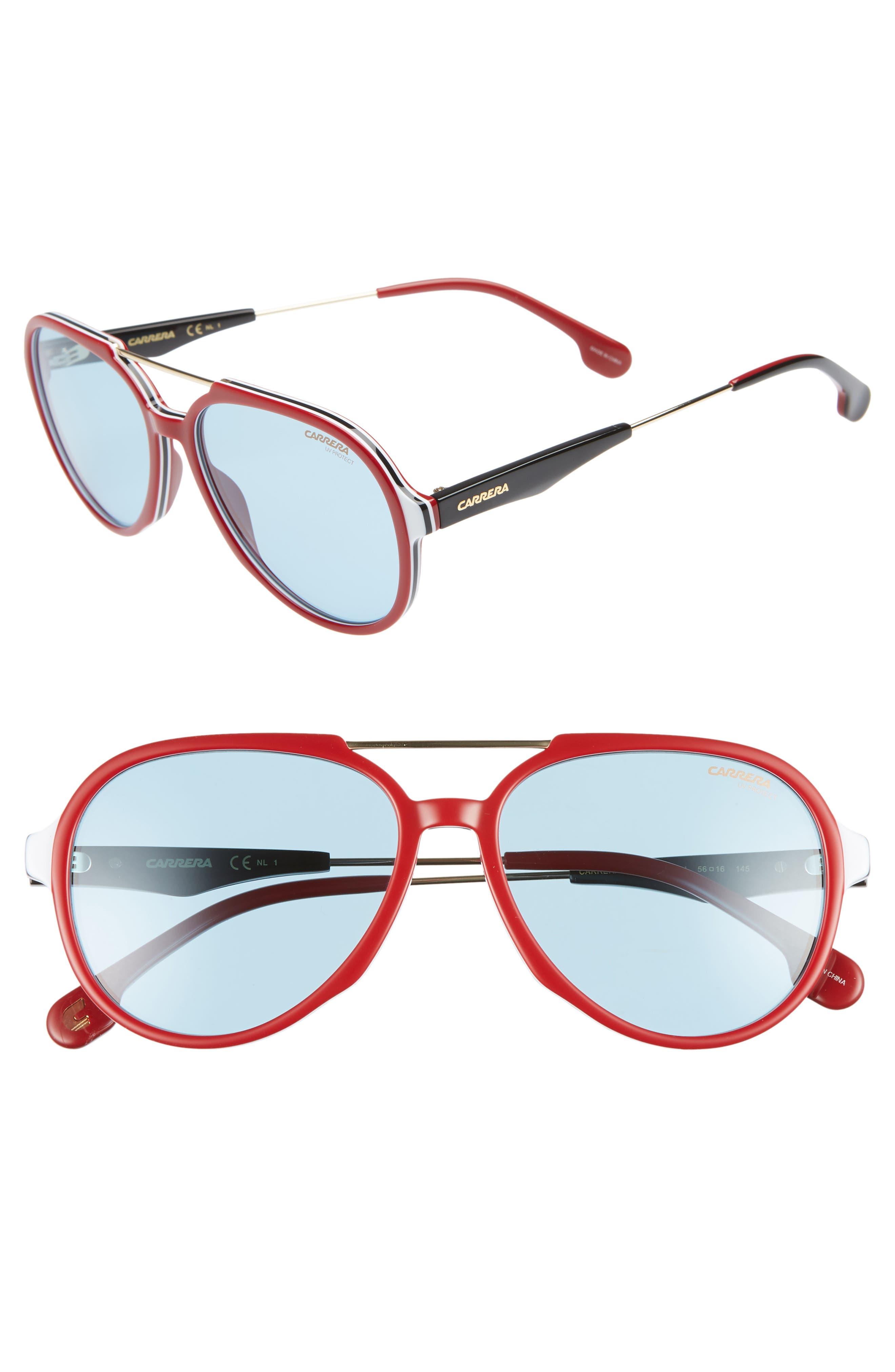 Carrera Eyewear 5m Aviator Sunglasses - Burgandy/gold